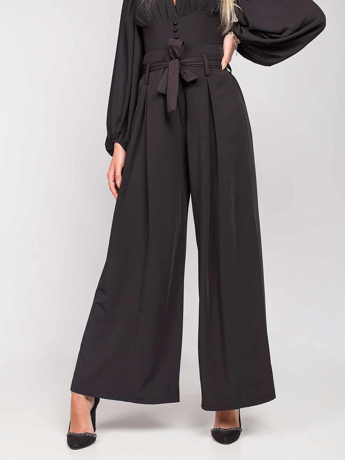 Pantalones anchos con tiro alto