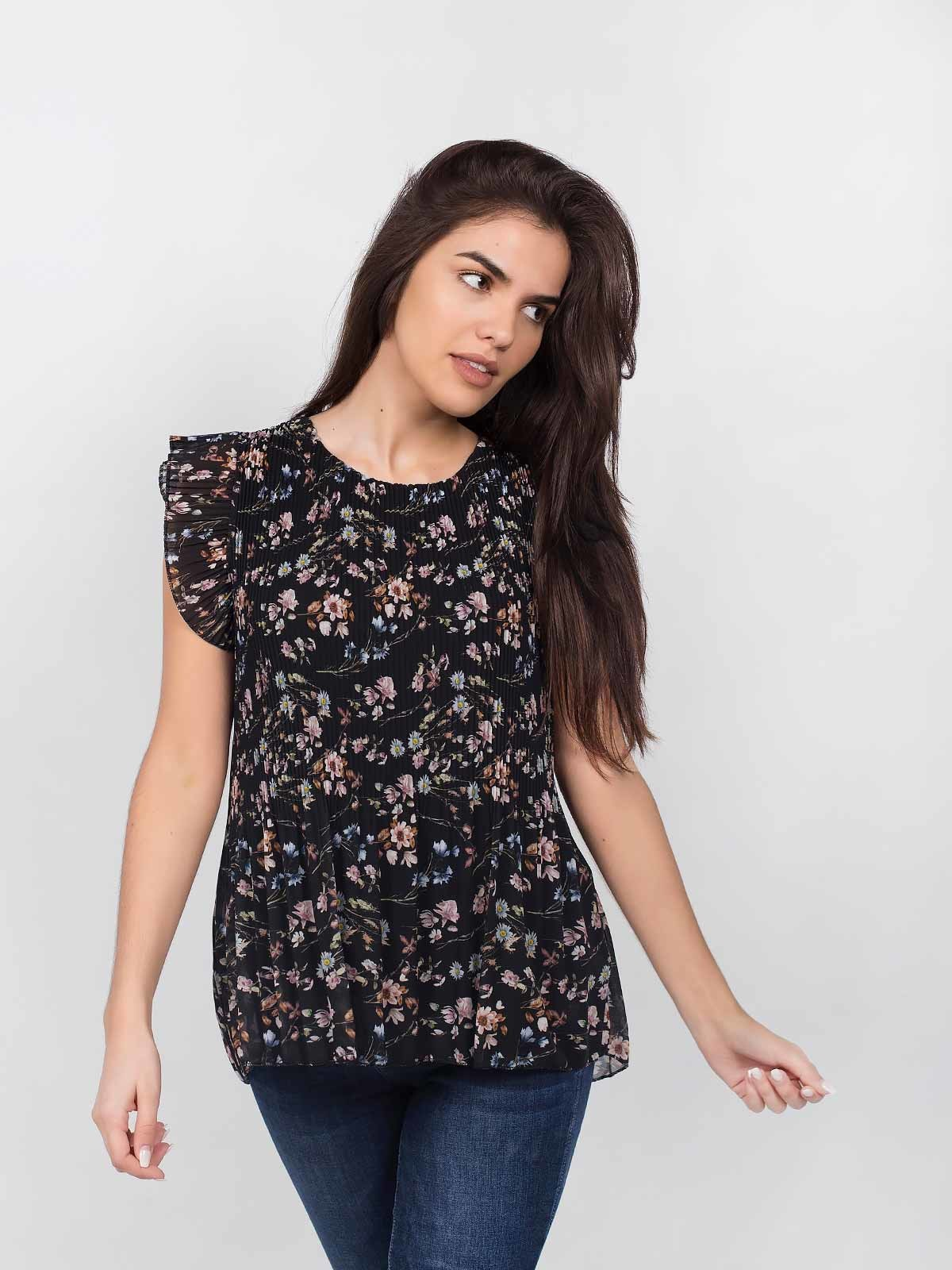 Blusa plissada estampado floral