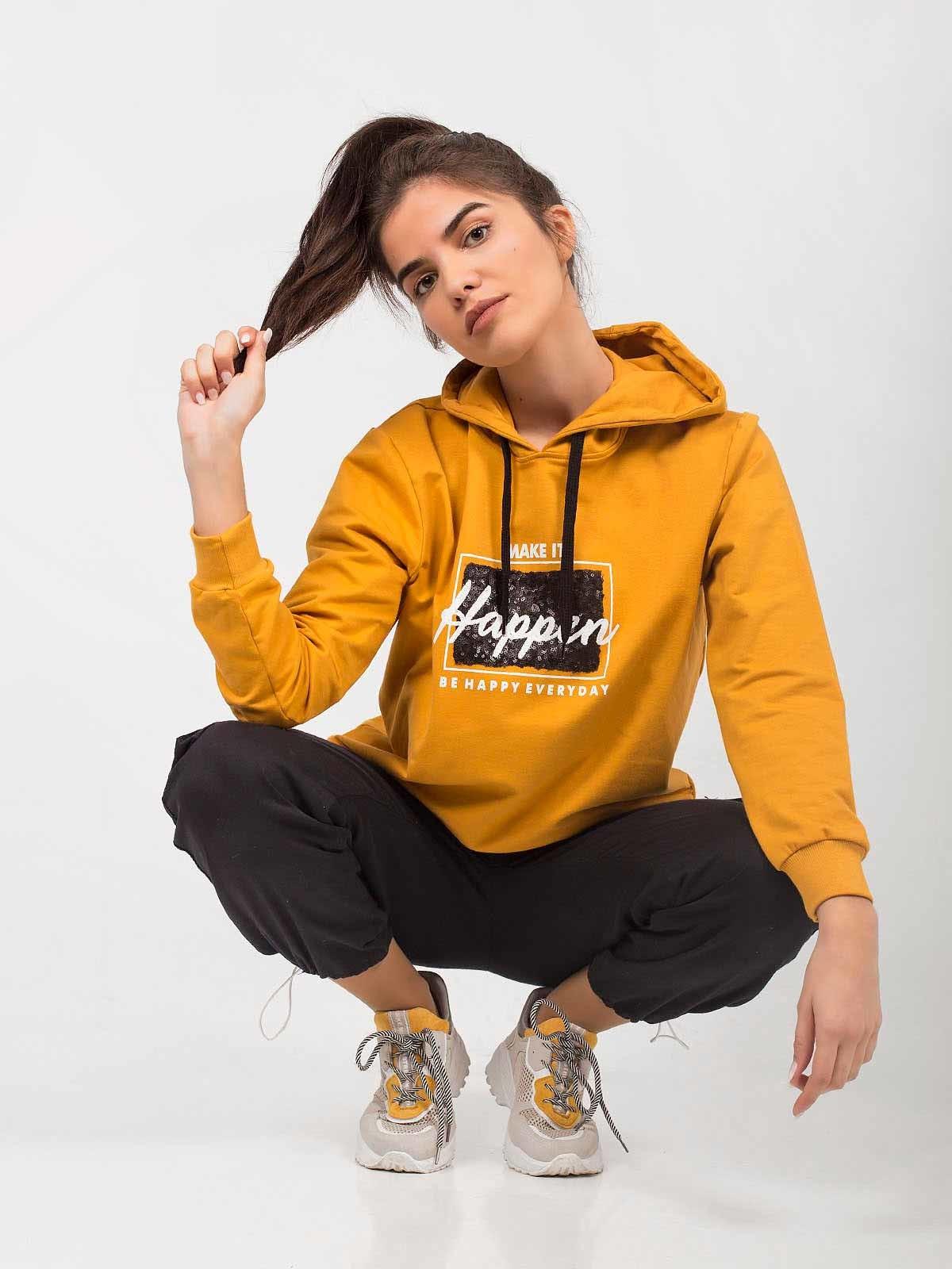 Camisola hoodie brilhantes