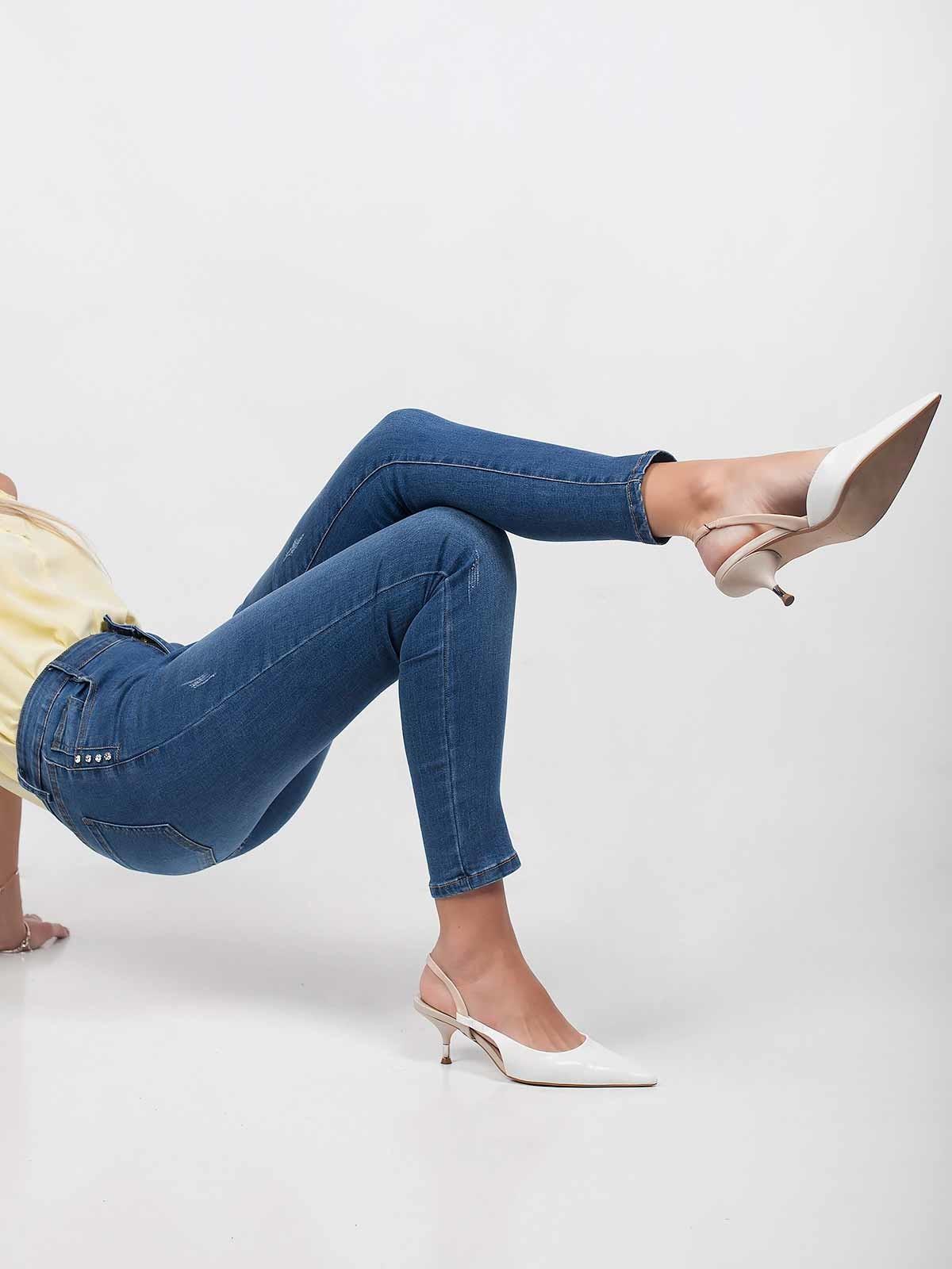 Calças ganga skinny jeans brilhantes