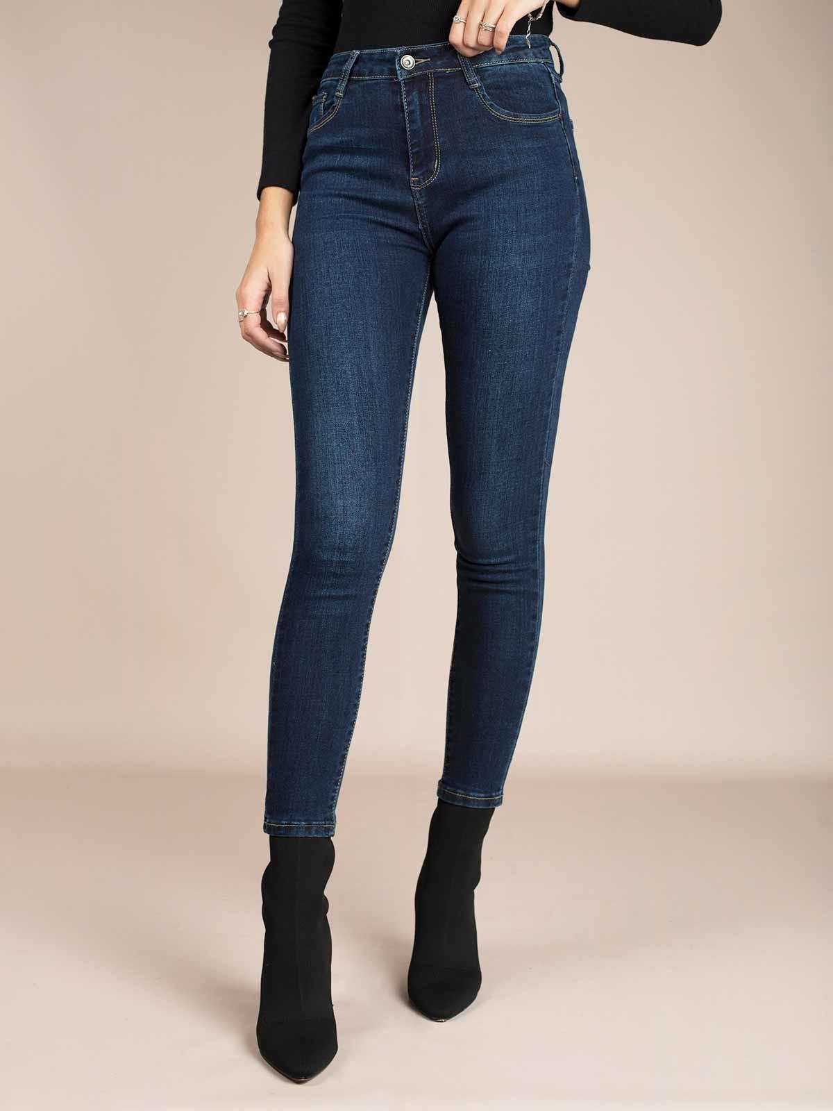 Calças ganga skinny jeans azul escuro