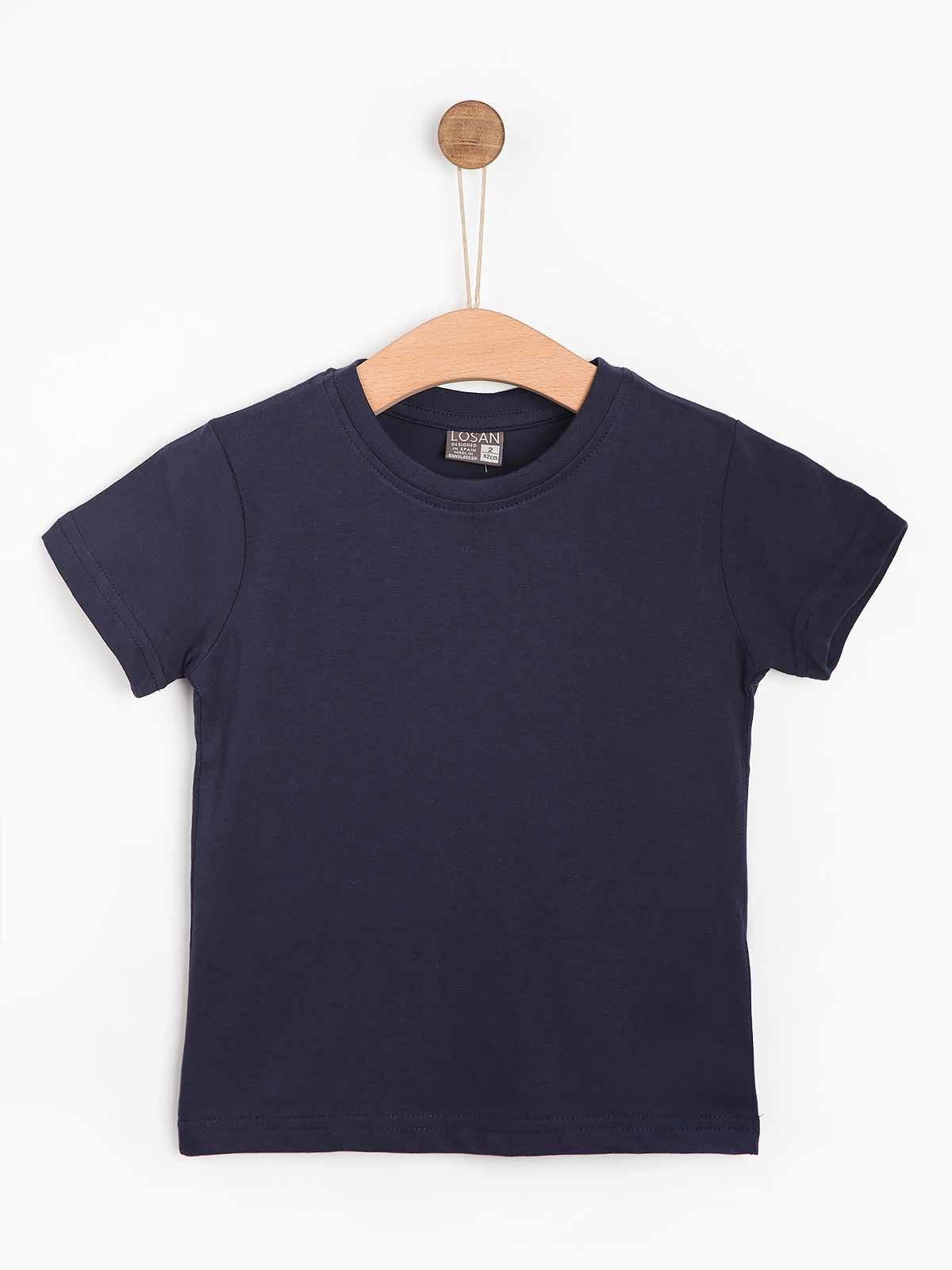 T-shirt básica algodão rapaz