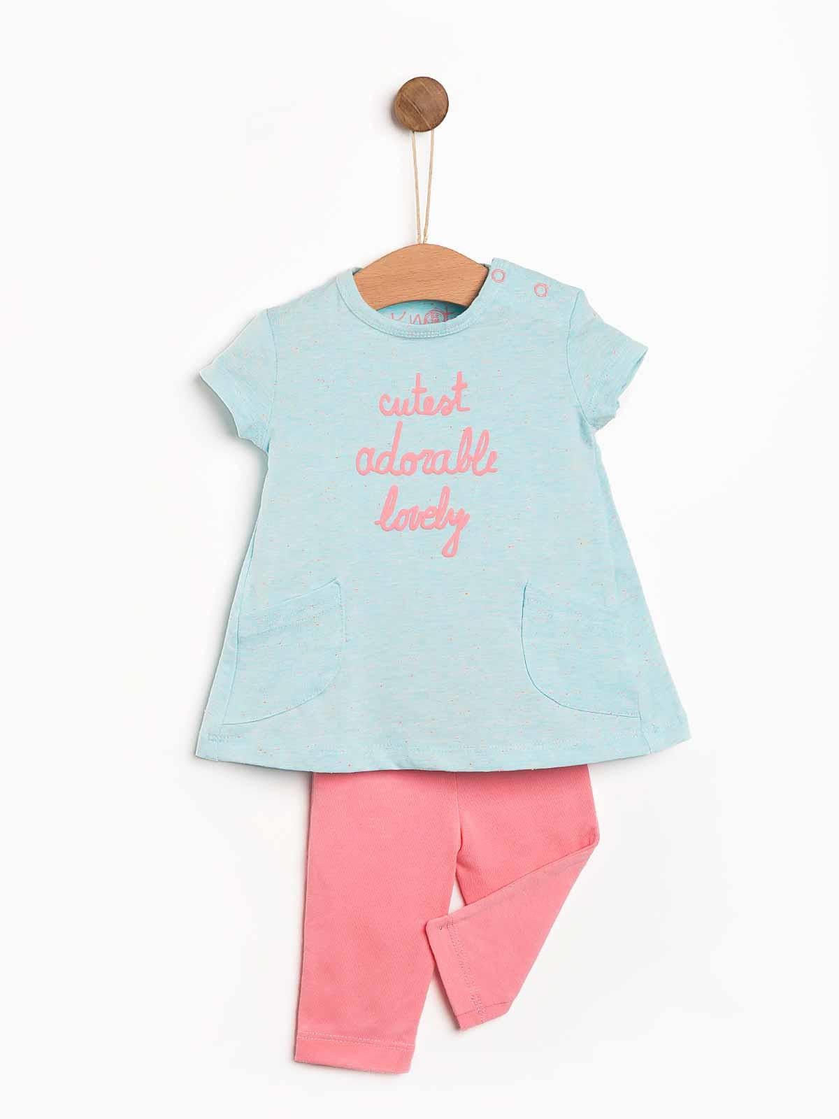 Conjunto bebé menina tunica e leggings