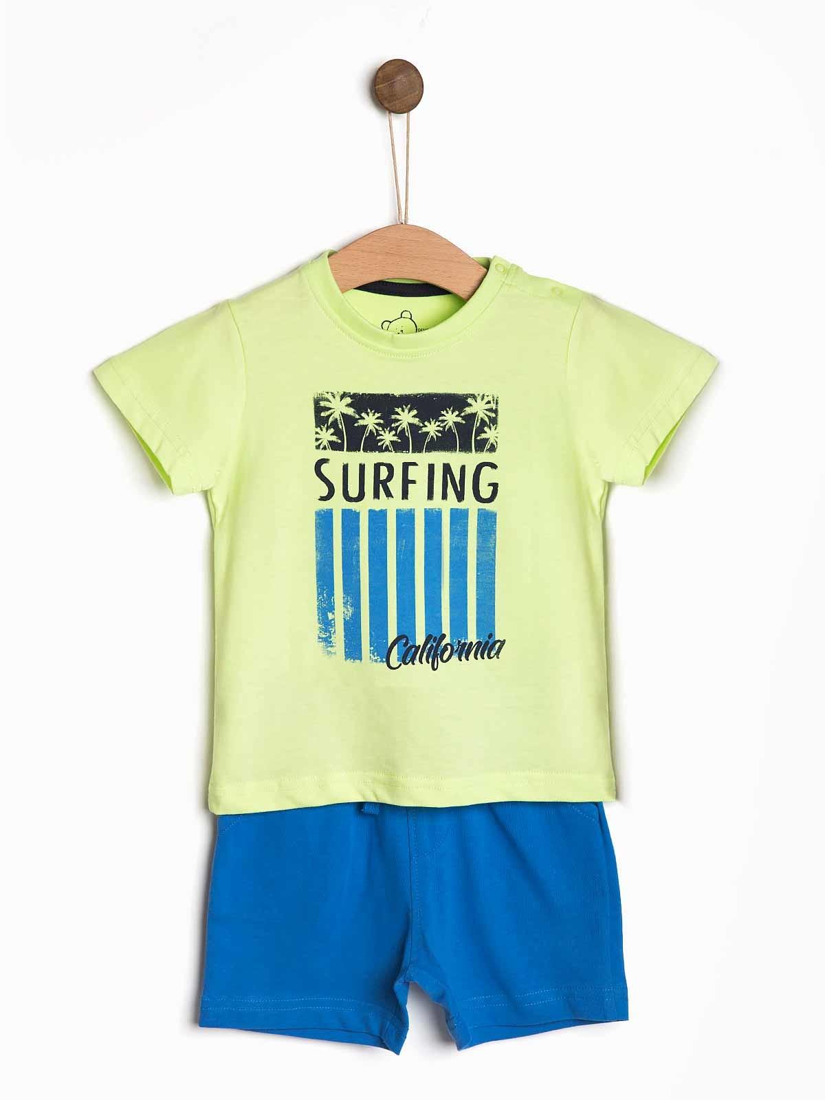 Conjunto bebé calção t-shirt