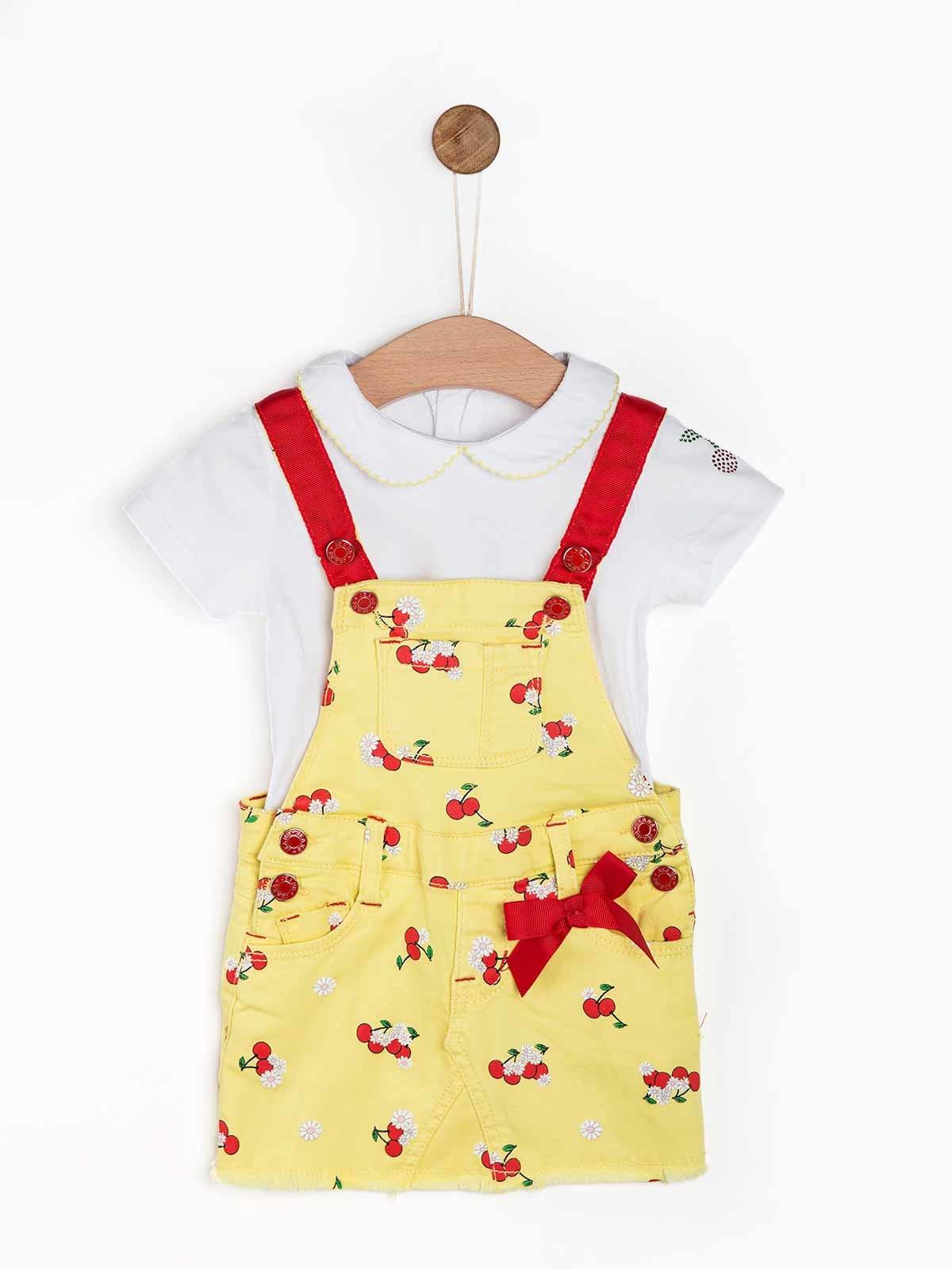 Conjunto de bebé saia e blusa