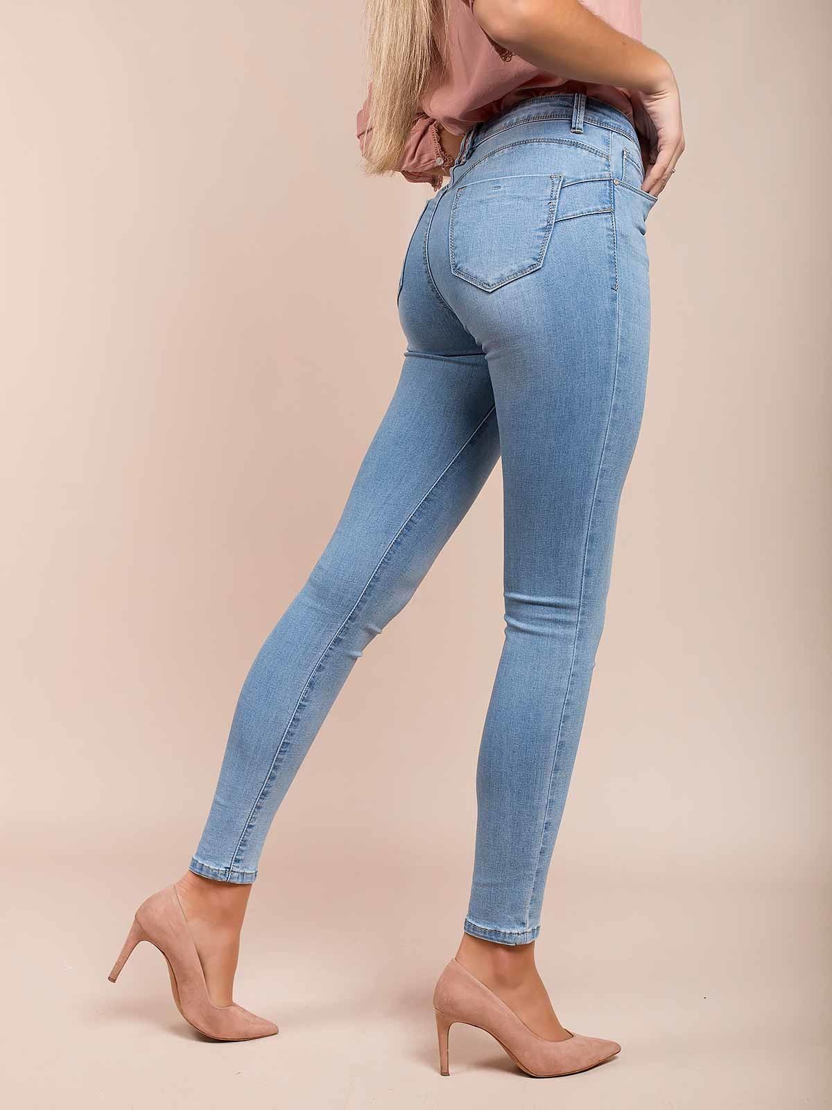 Push up jeans cintura alta