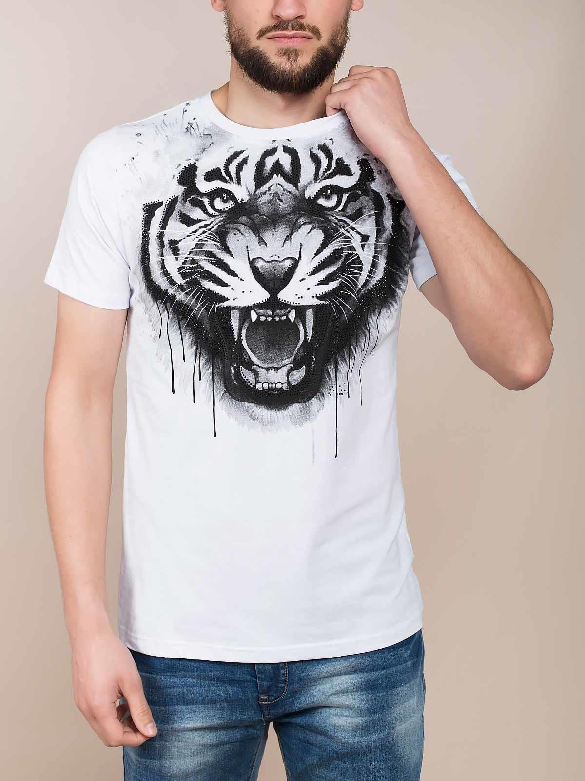 T-shirt estampado tigre