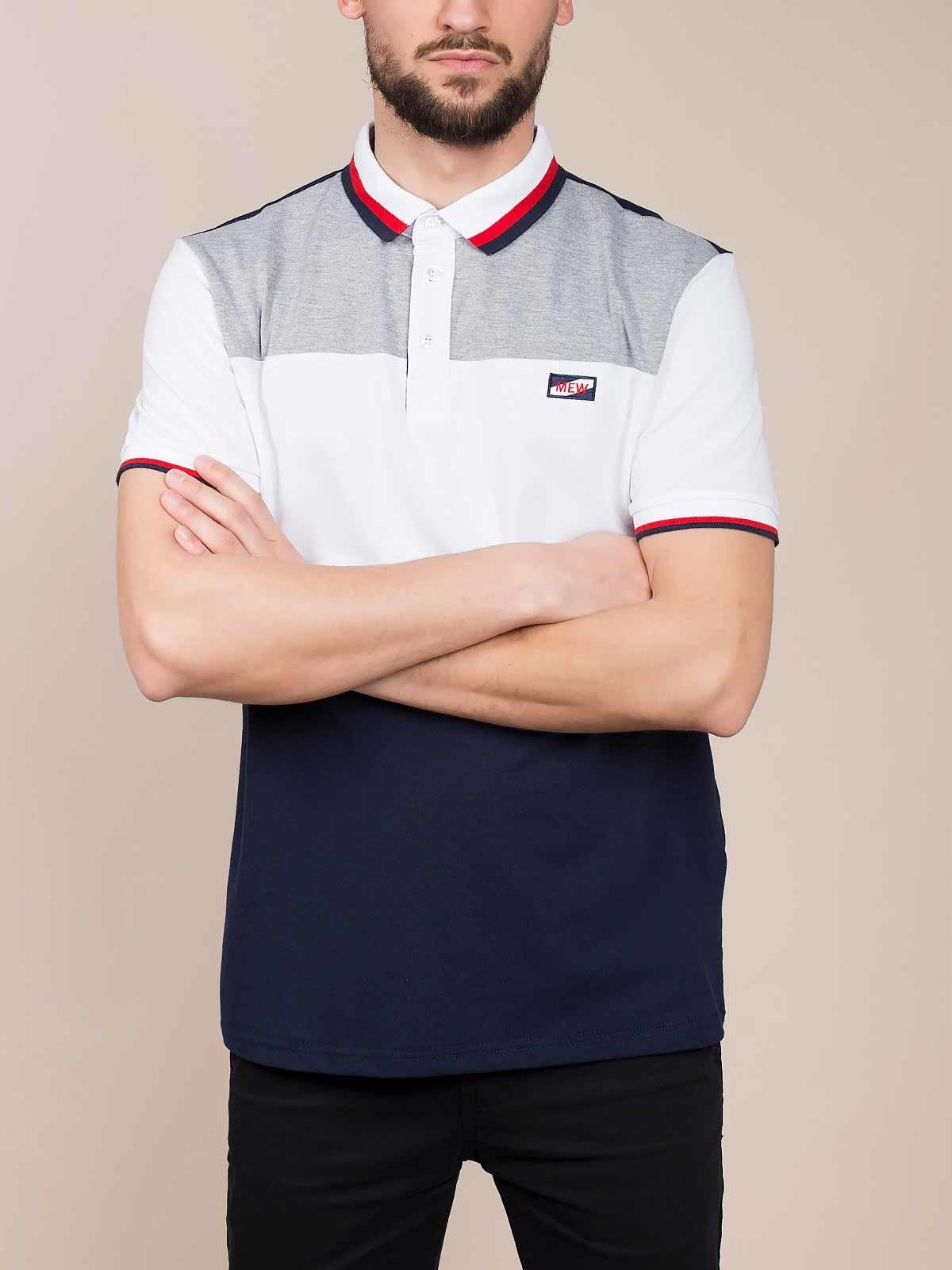 Polo manga curta tricolor