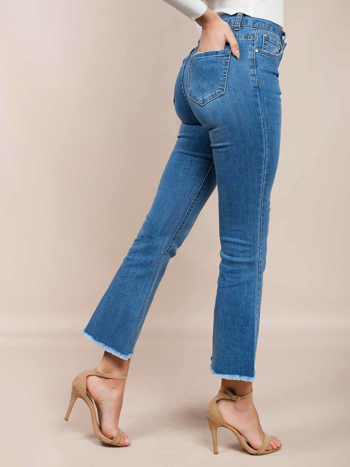 Calças ganga flare jeans