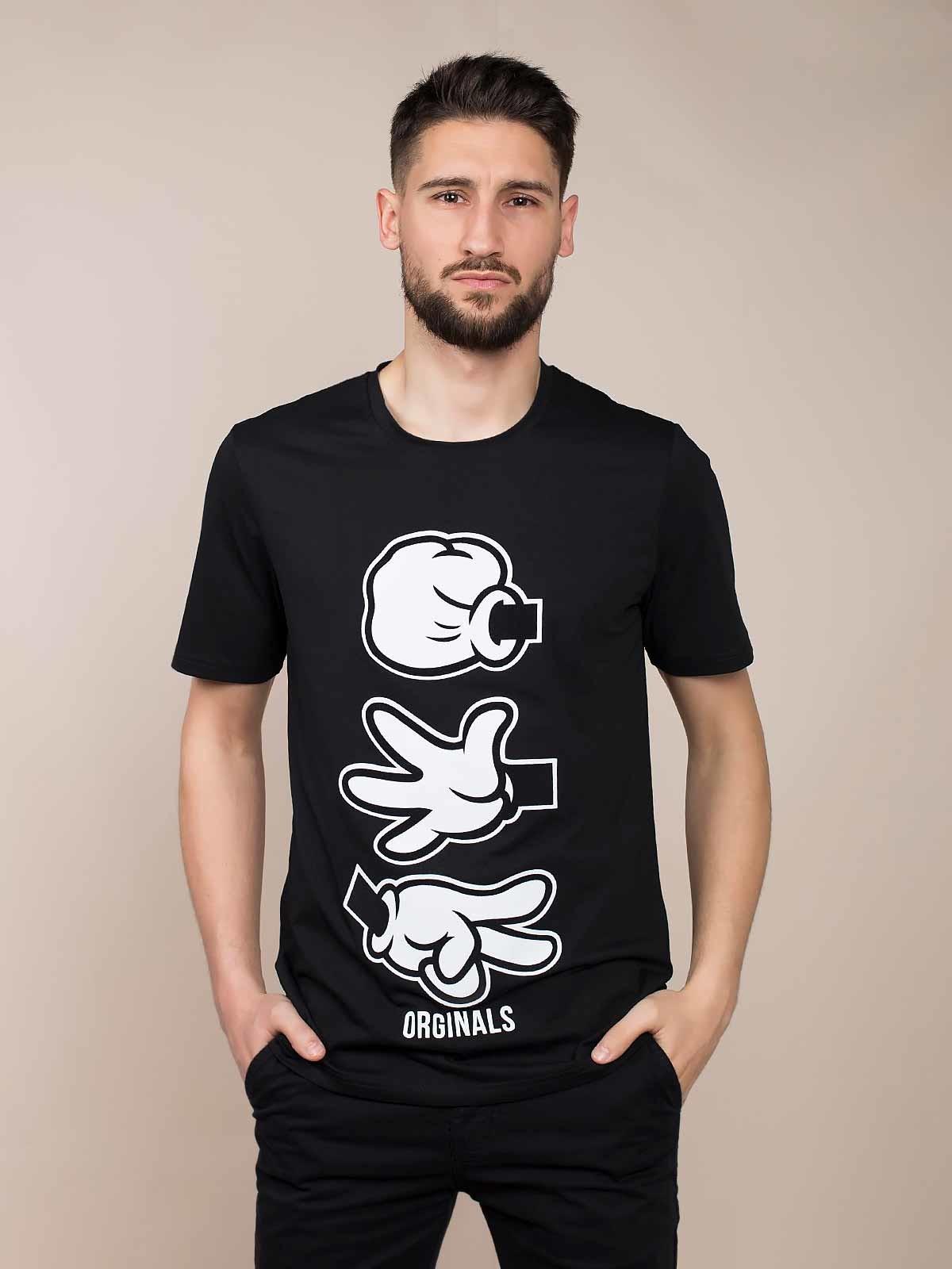 T-shirt manga curta estampada