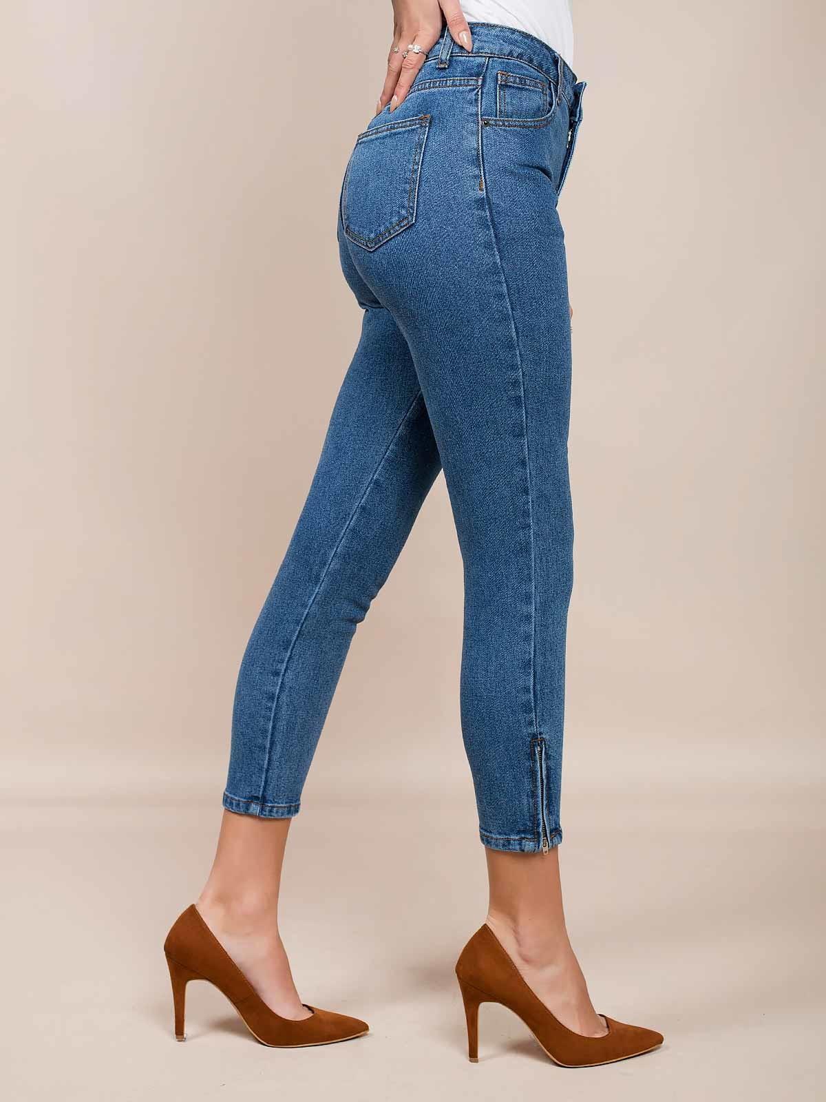 Calças ganga high waist jeans escuras