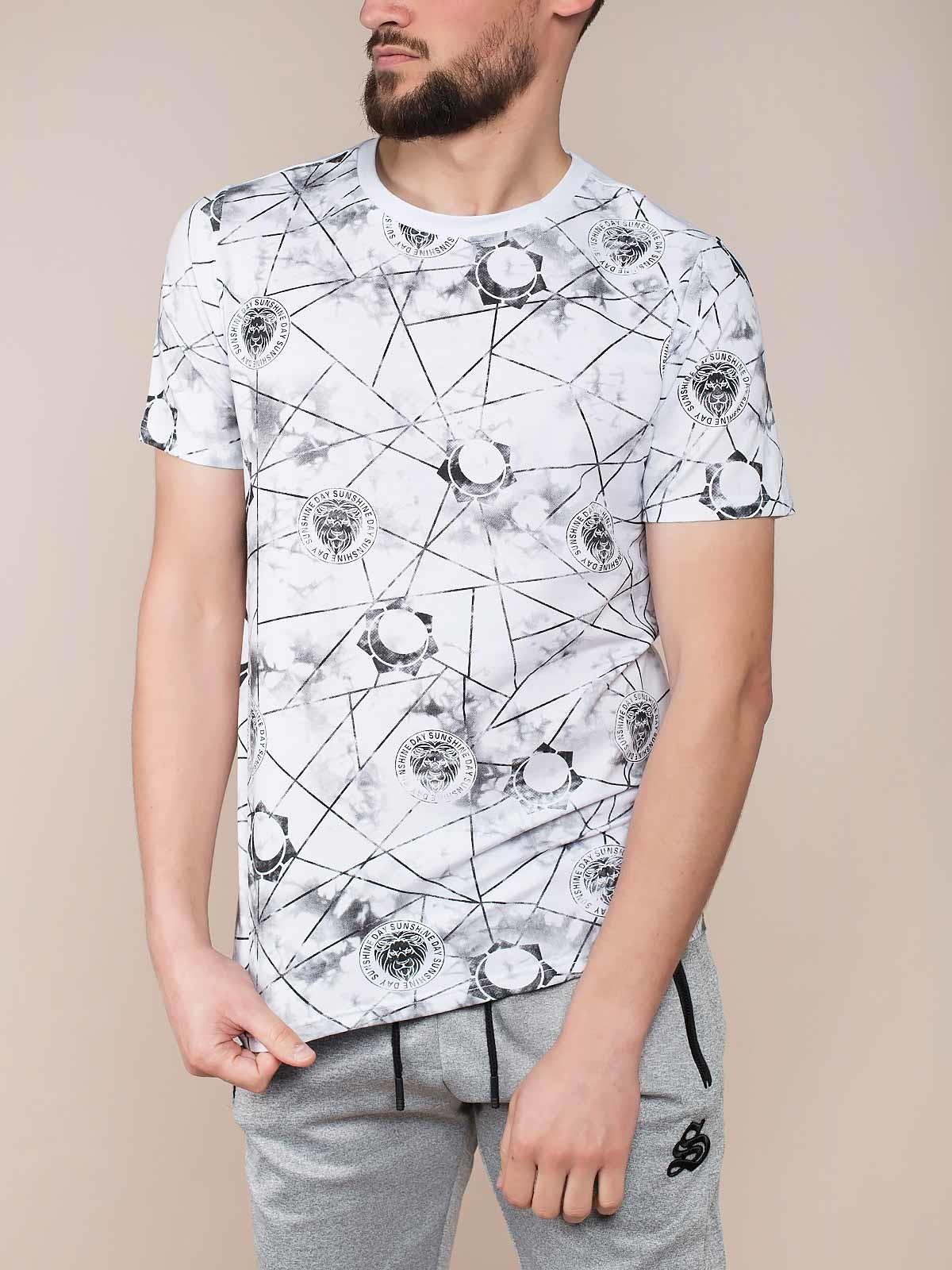T-shirt manchada estampada