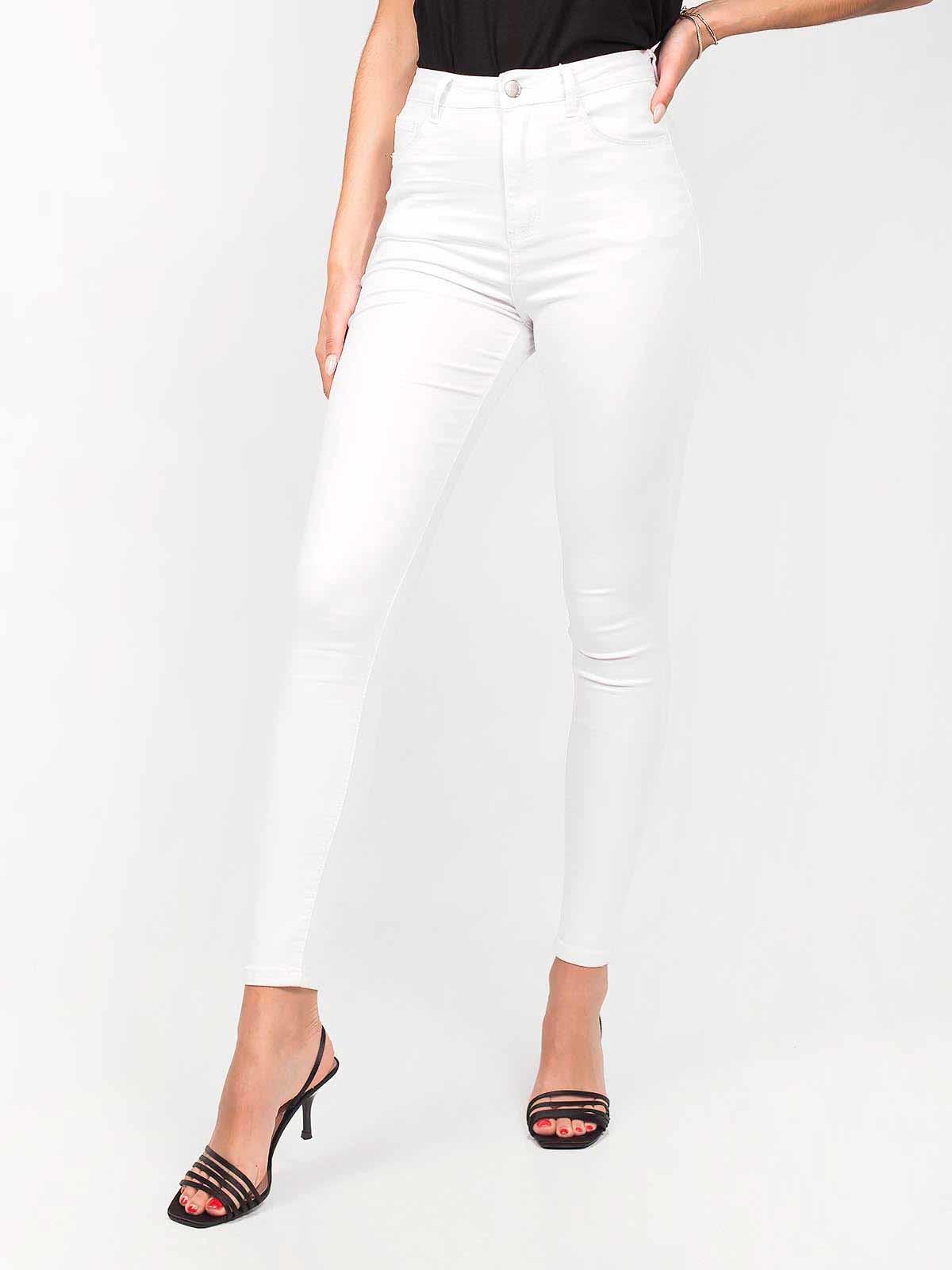 Calças brancas skinny jeans