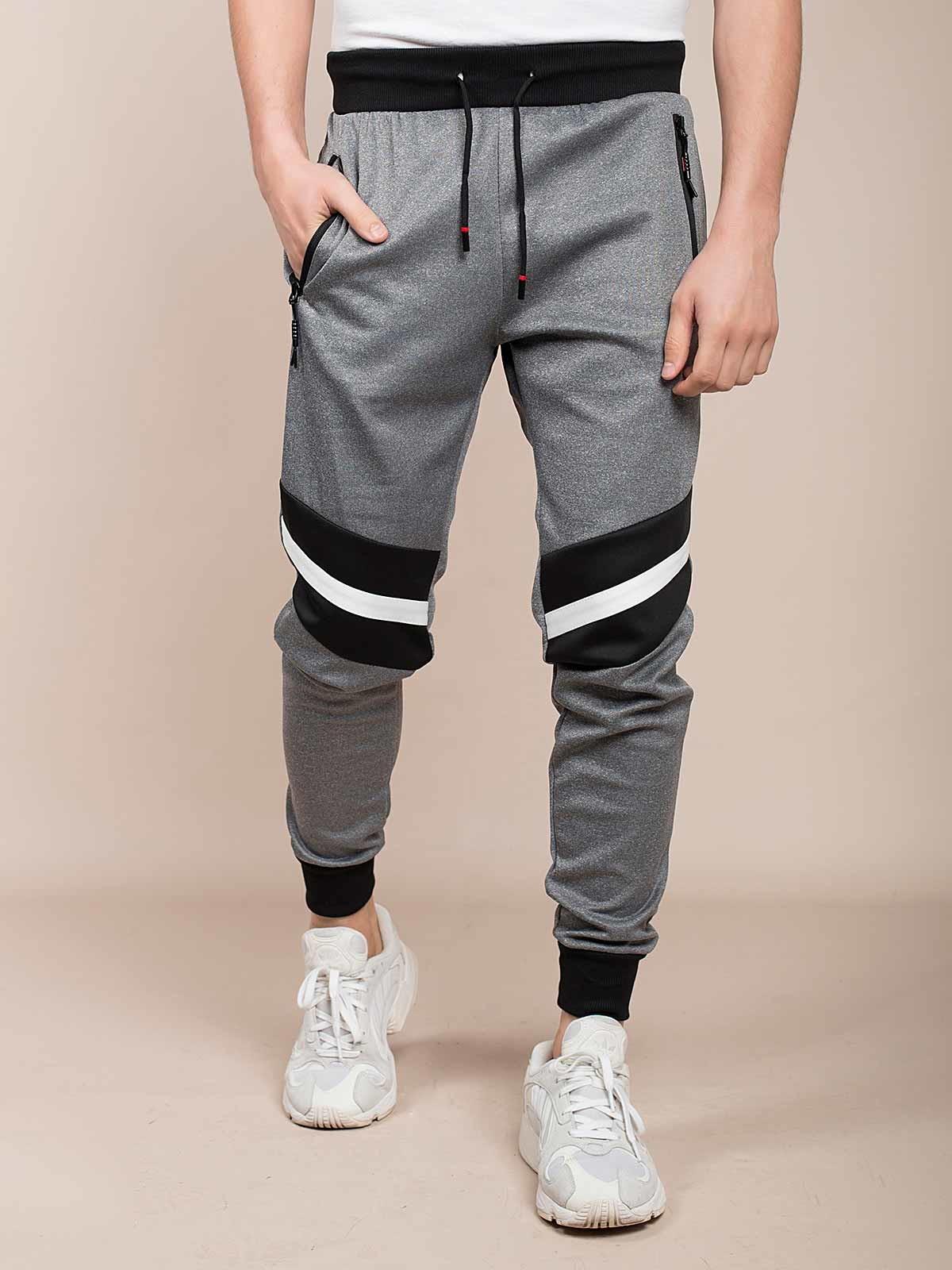 Pantalones de chándal mixto con rayas