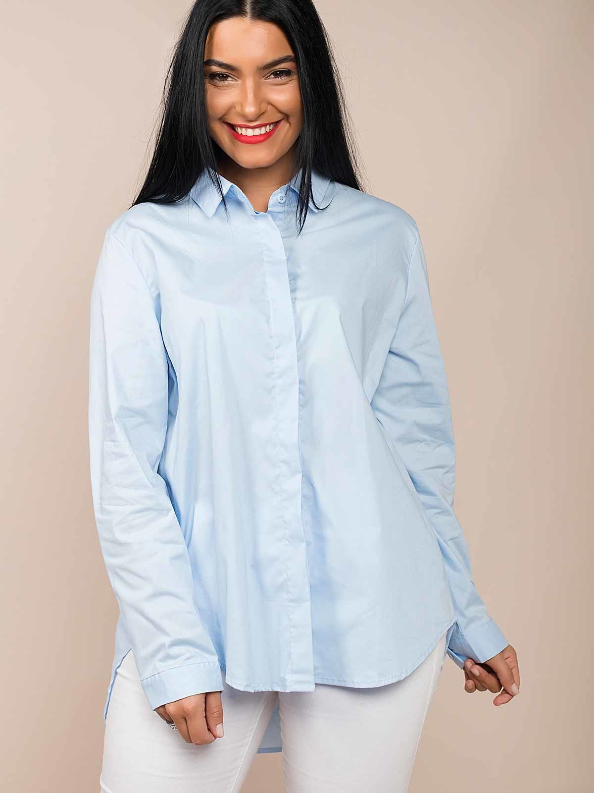Camisa larga de algodón