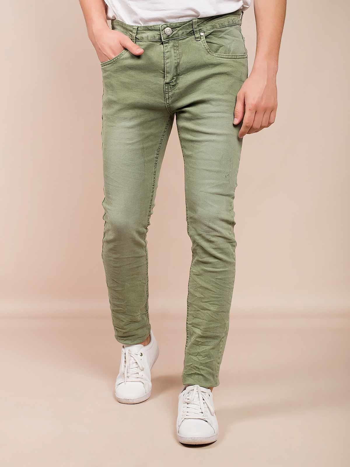 Pantalones de sarga manchados