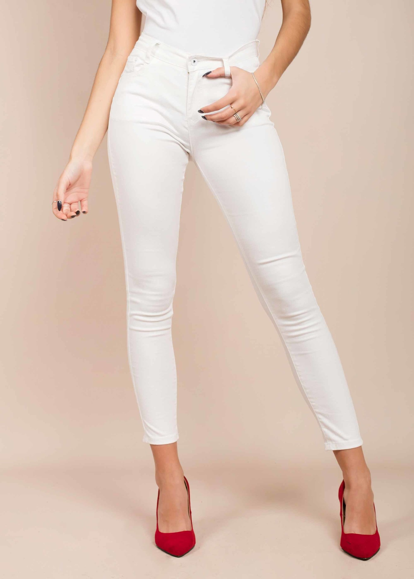 Pantalón blanco push up