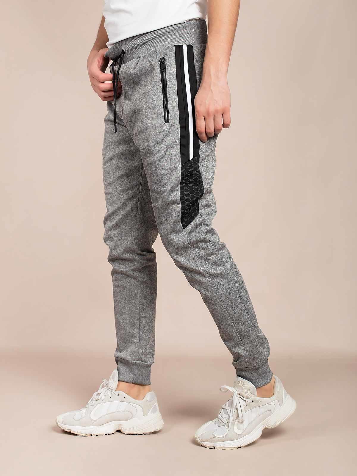 Pantalón de chándal con rayas laterales