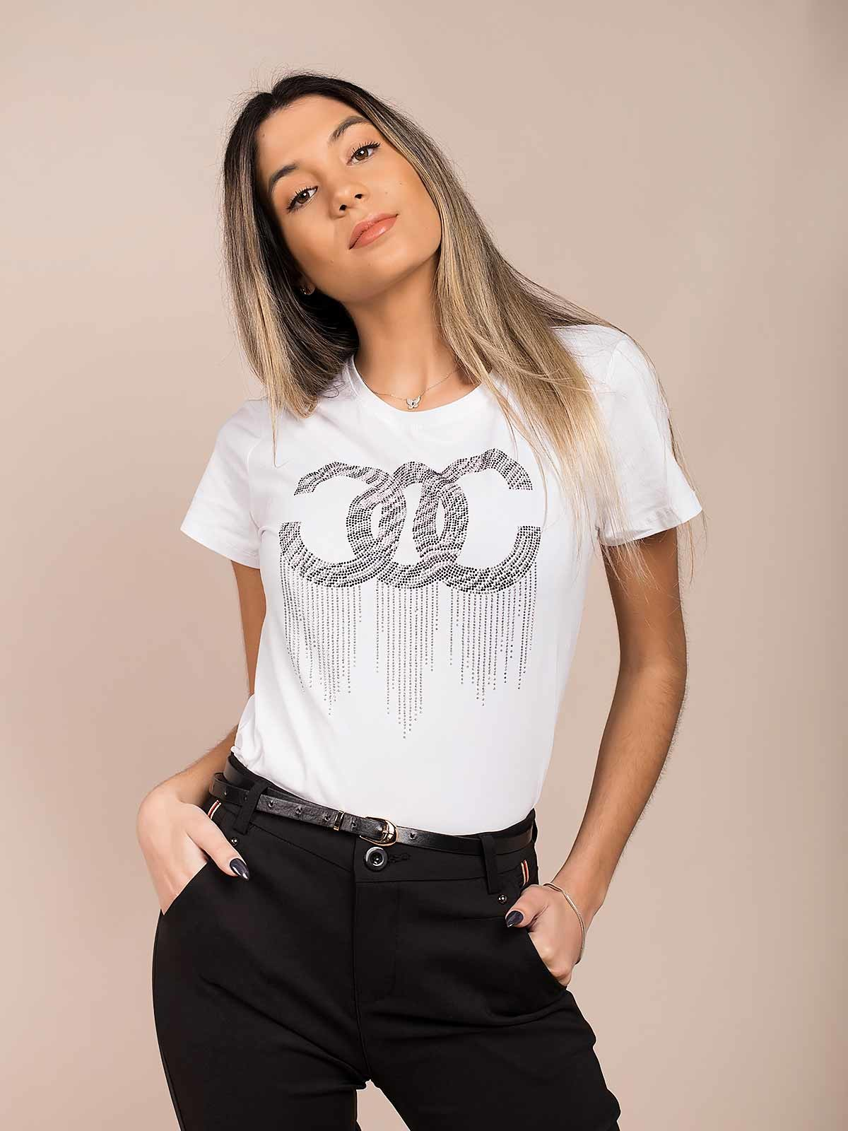 Camiseta con diamantes