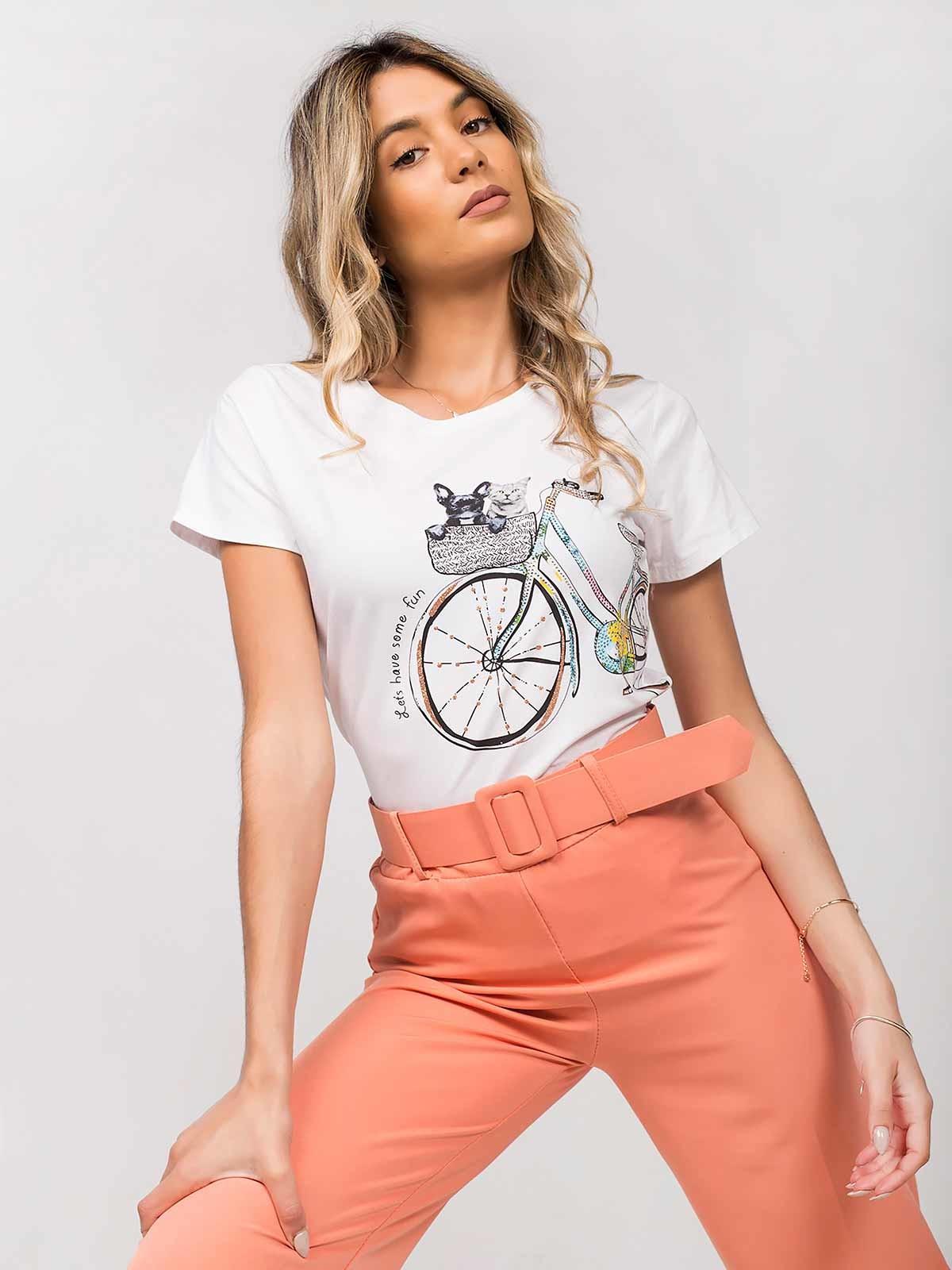Camiseta corta estampada