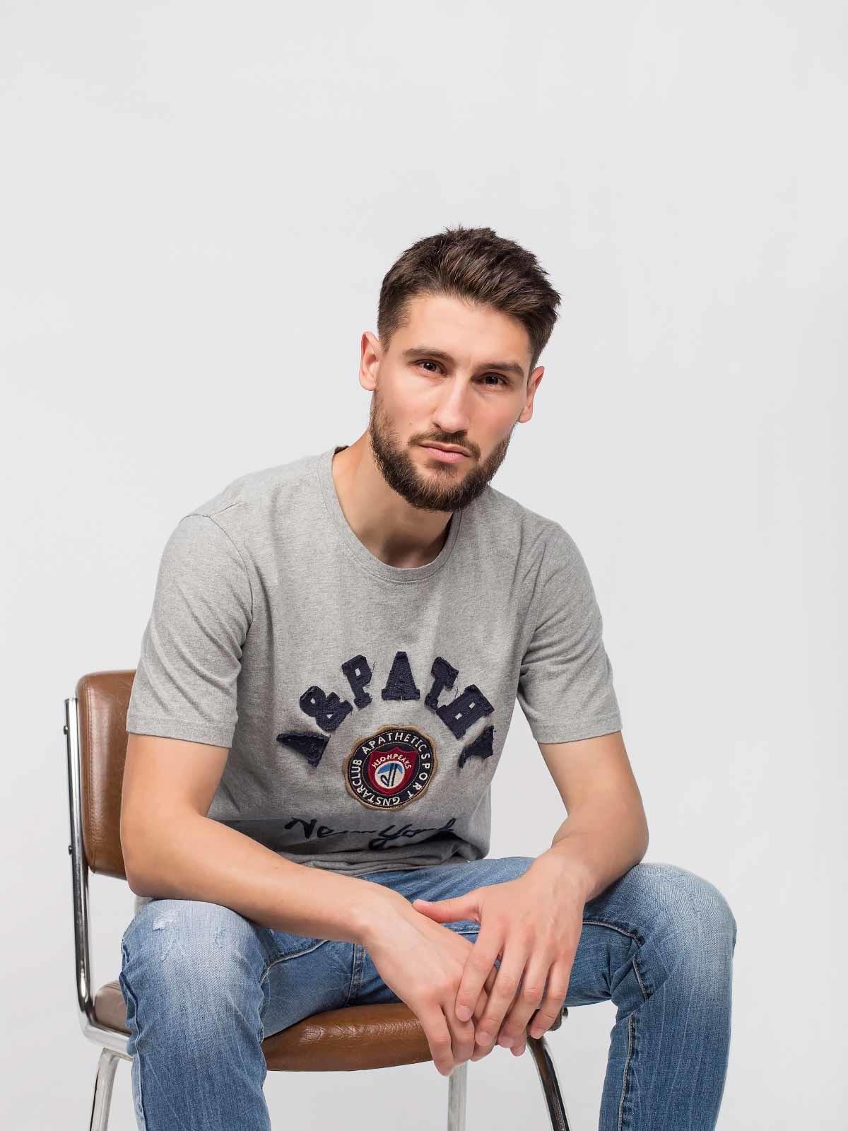 Camiseta de manga corta con bordado