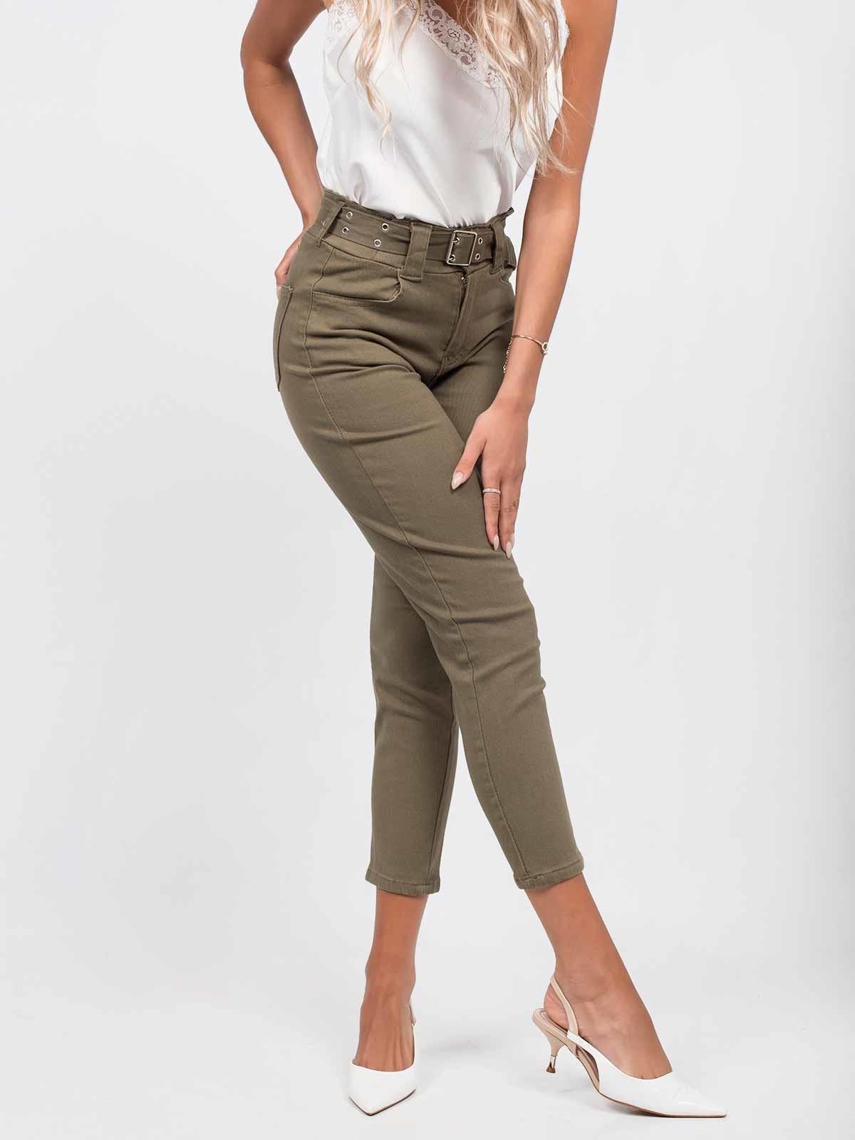 Pantalones de sarga con cinturón
