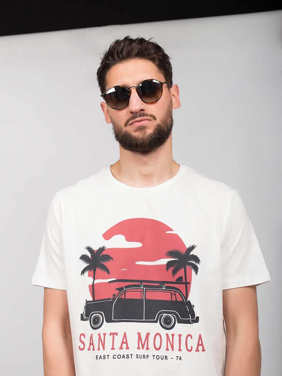 Camiseta estampada Santa Monica