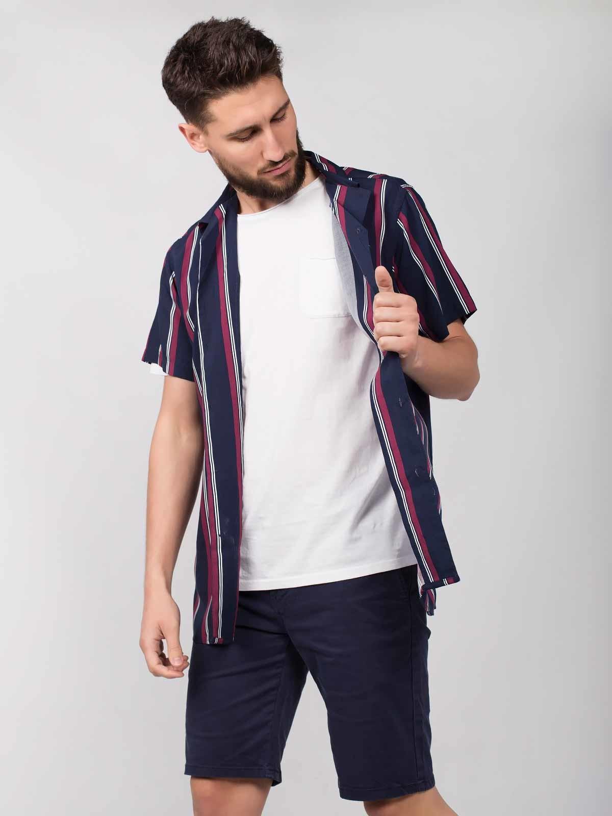 Camisa a rayas de manga corta