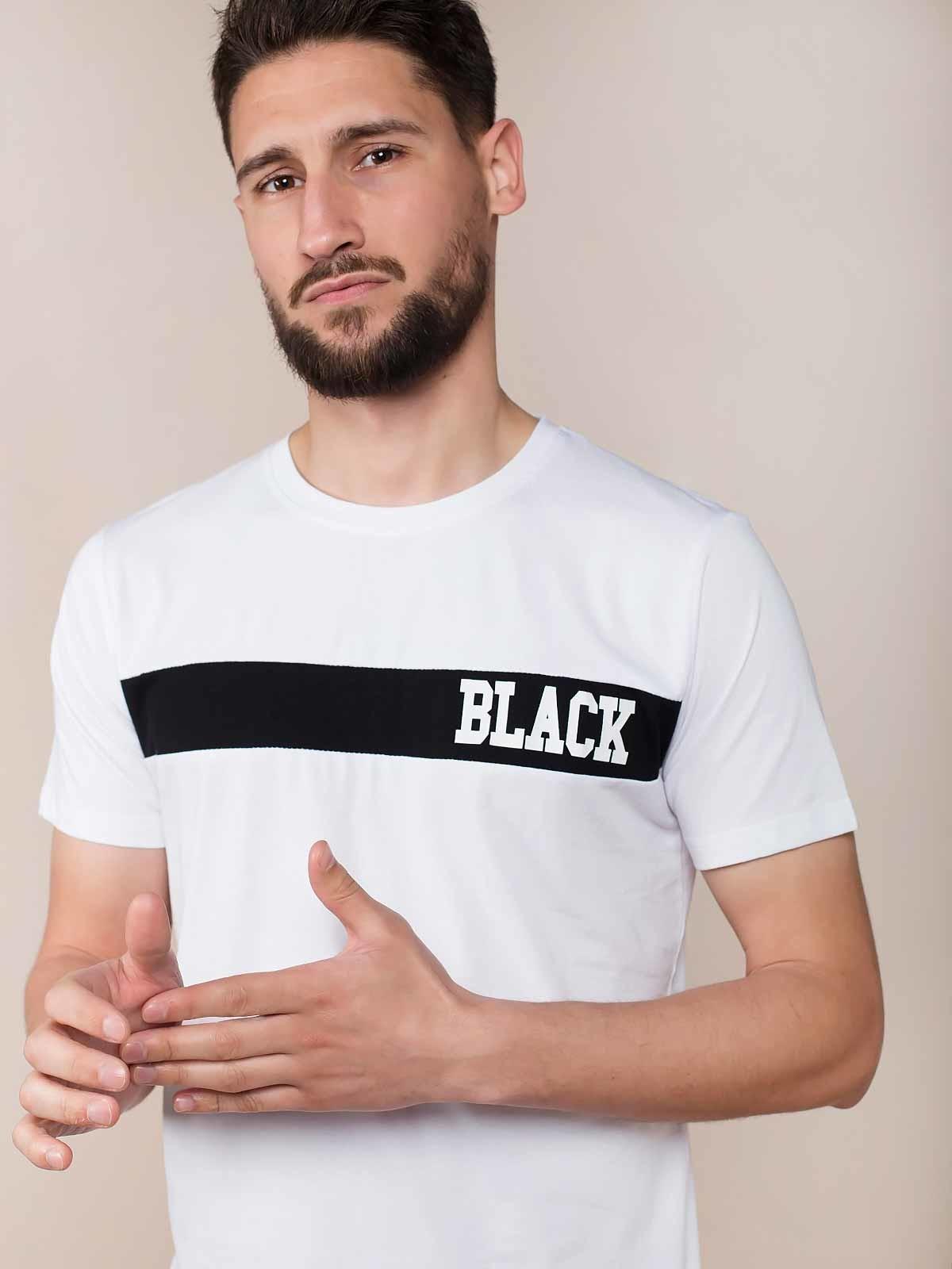 T-shirt estampada Black
