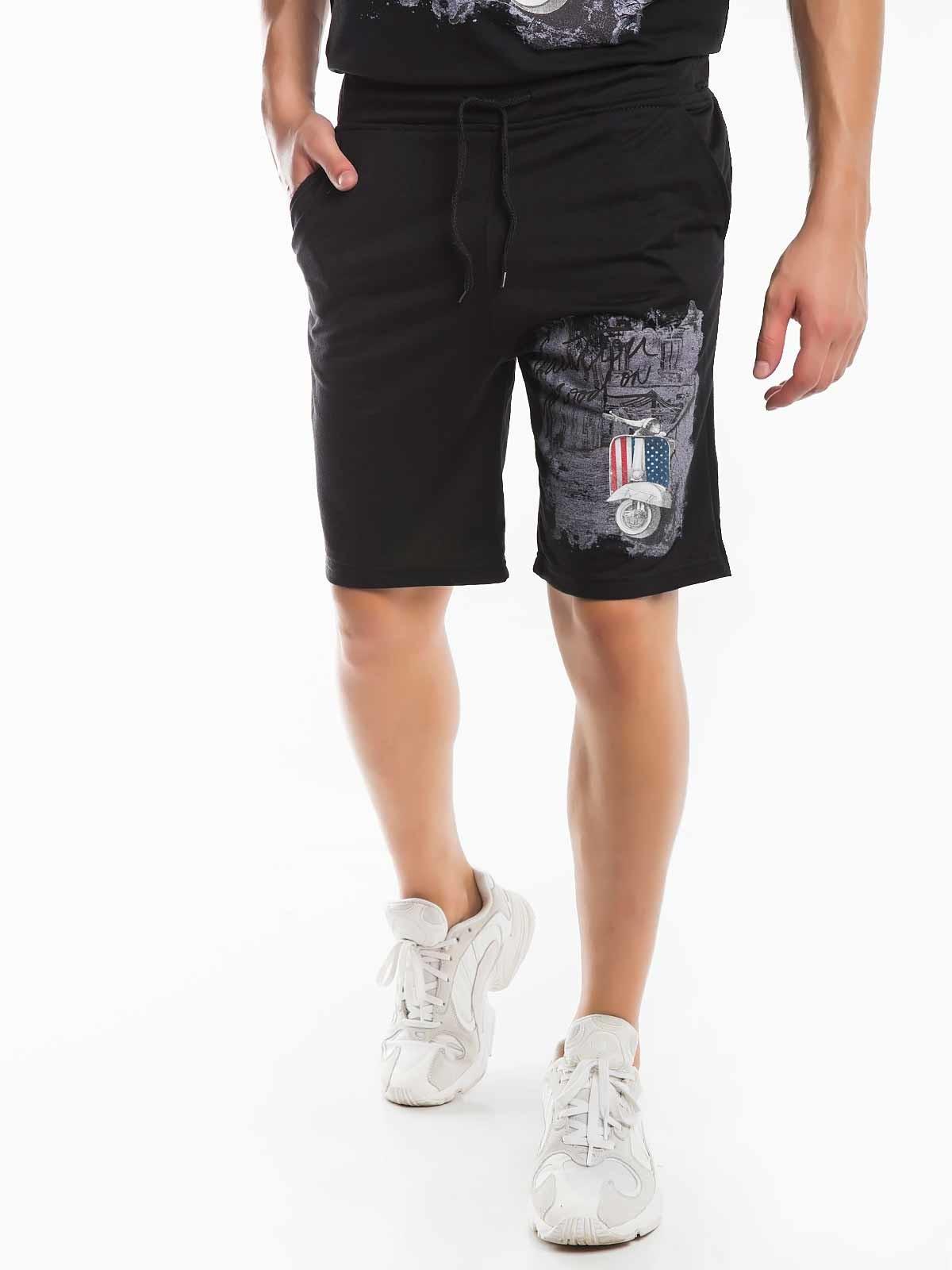 Shorts estampados de felpa