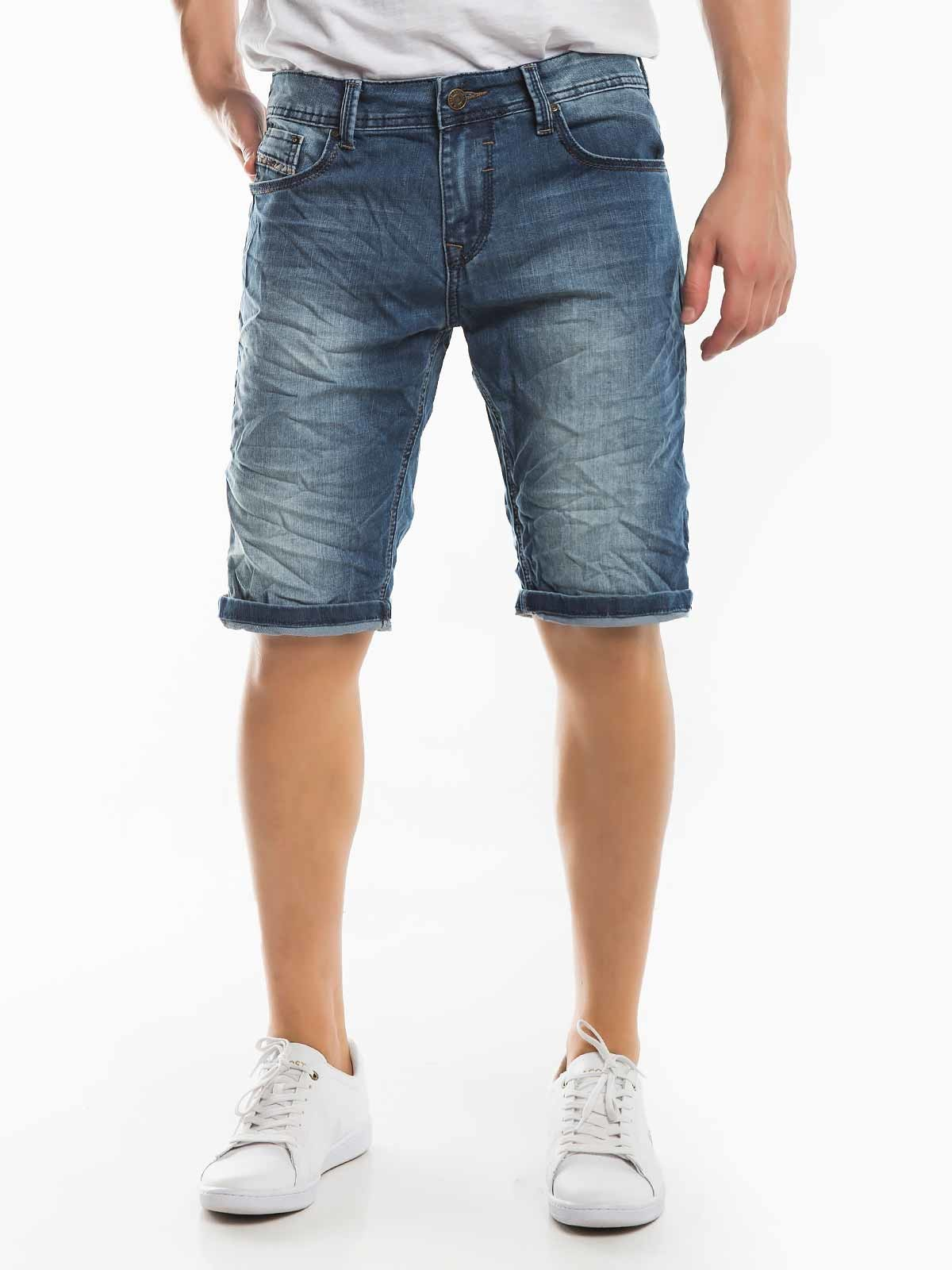 Shorts de mezclilla envueltos