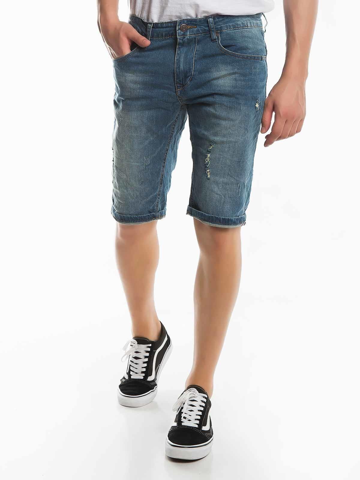 Pantalones cortos de mezclilla