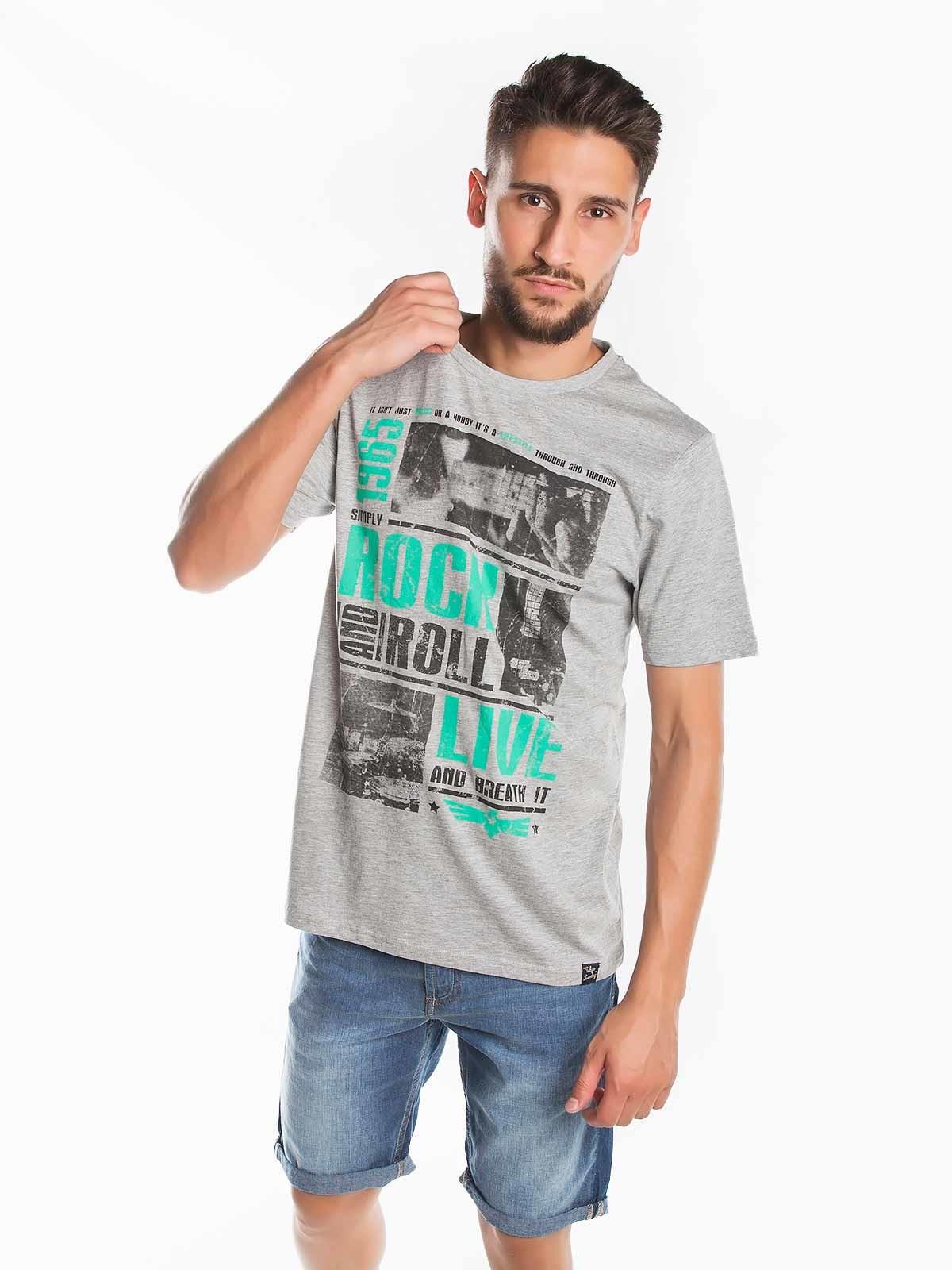 T-shirt estampada Rock n Roll