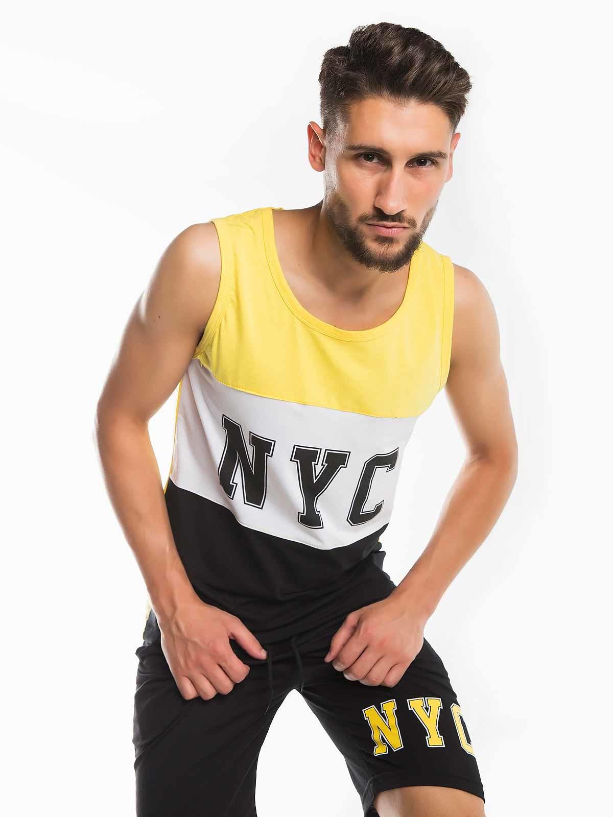 T-shirt caveada homem NYC