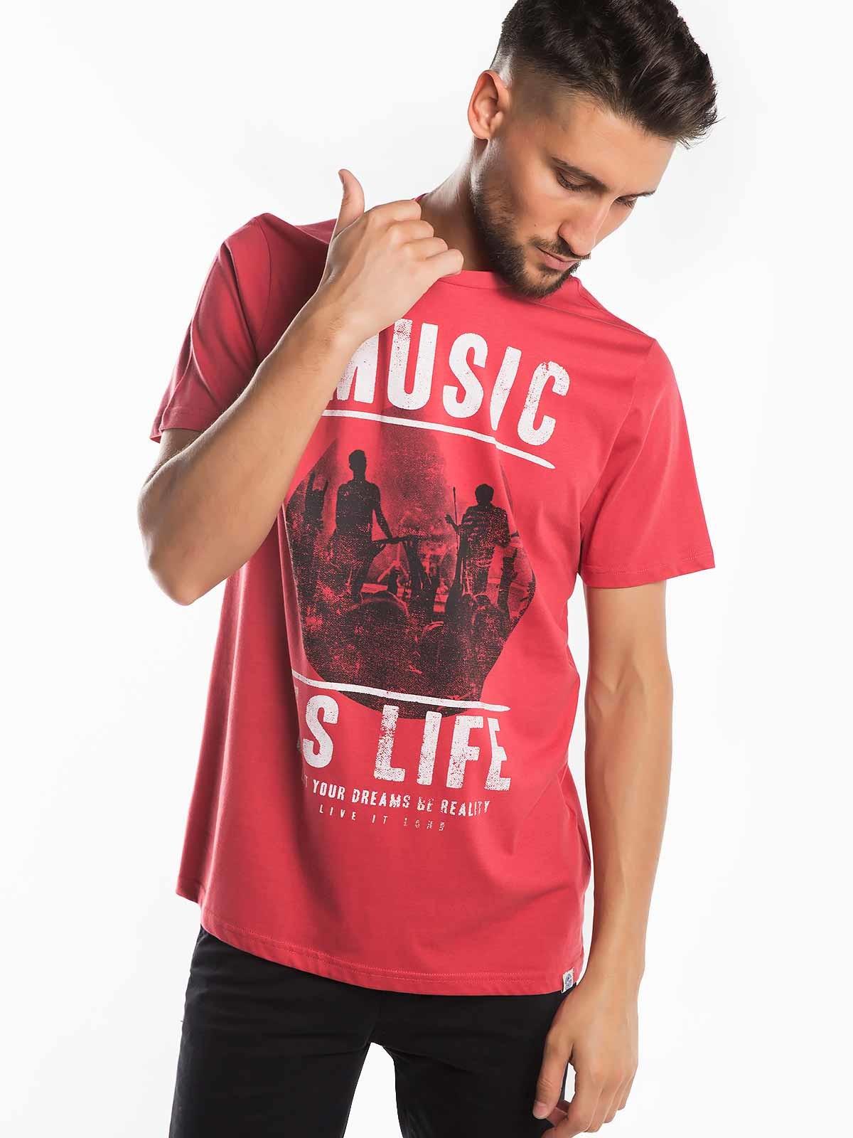 T-shirt estampada Music is Life