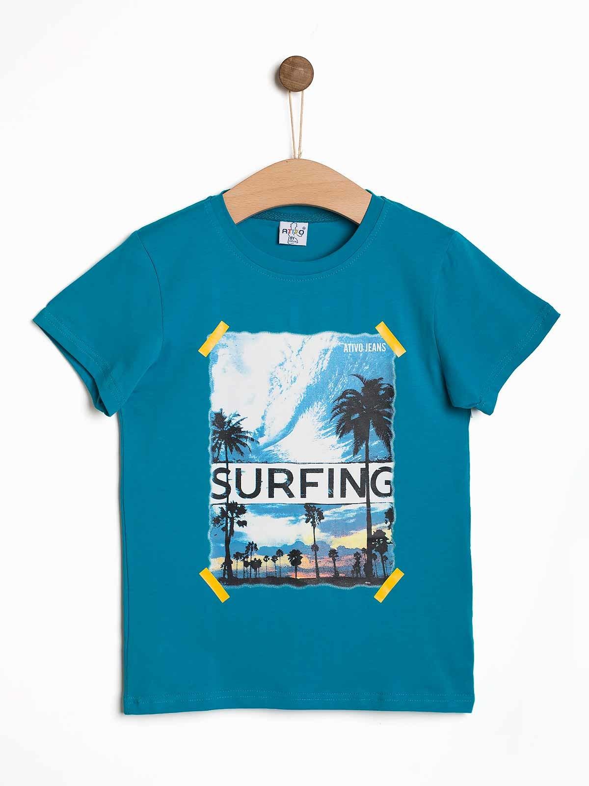 T-shirt menino com palmeiras