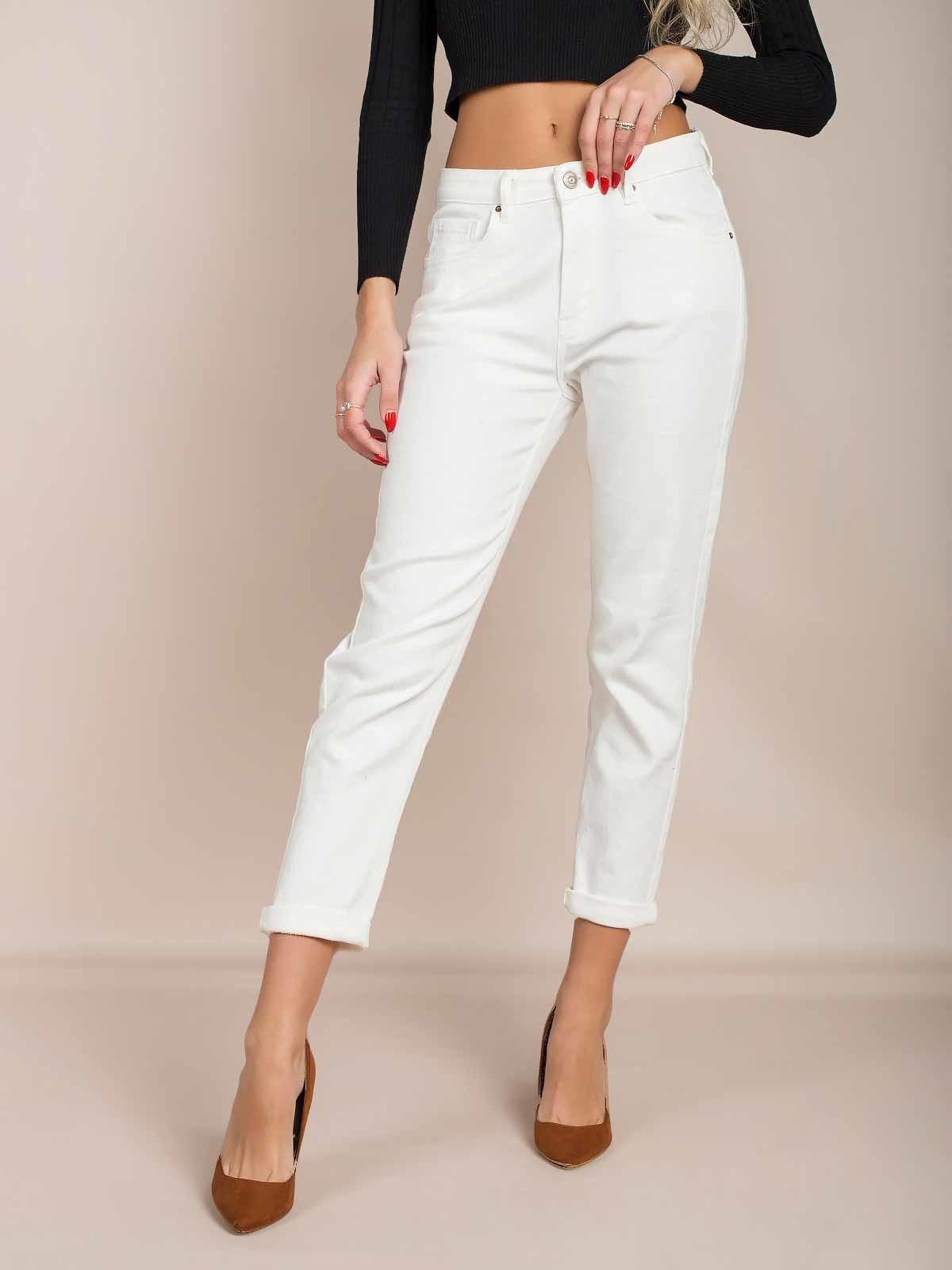 Calças ganga brancas slim fit
