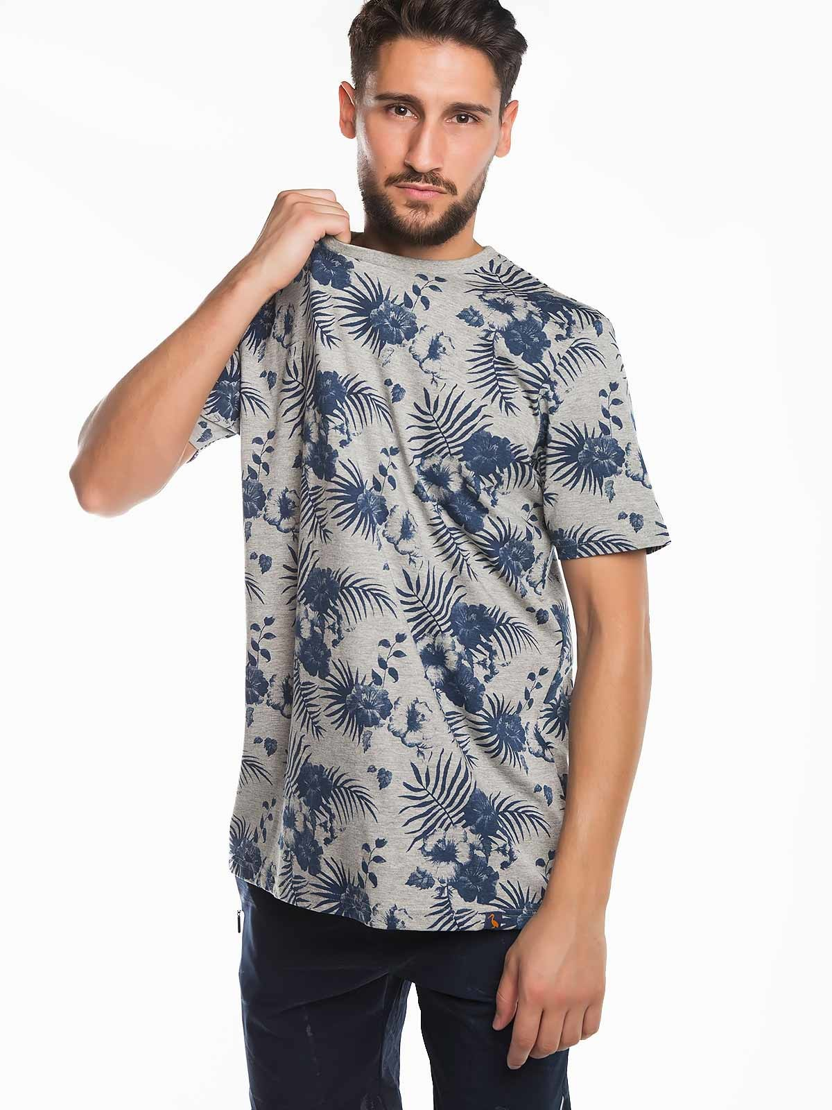 T-shirt homem com flores