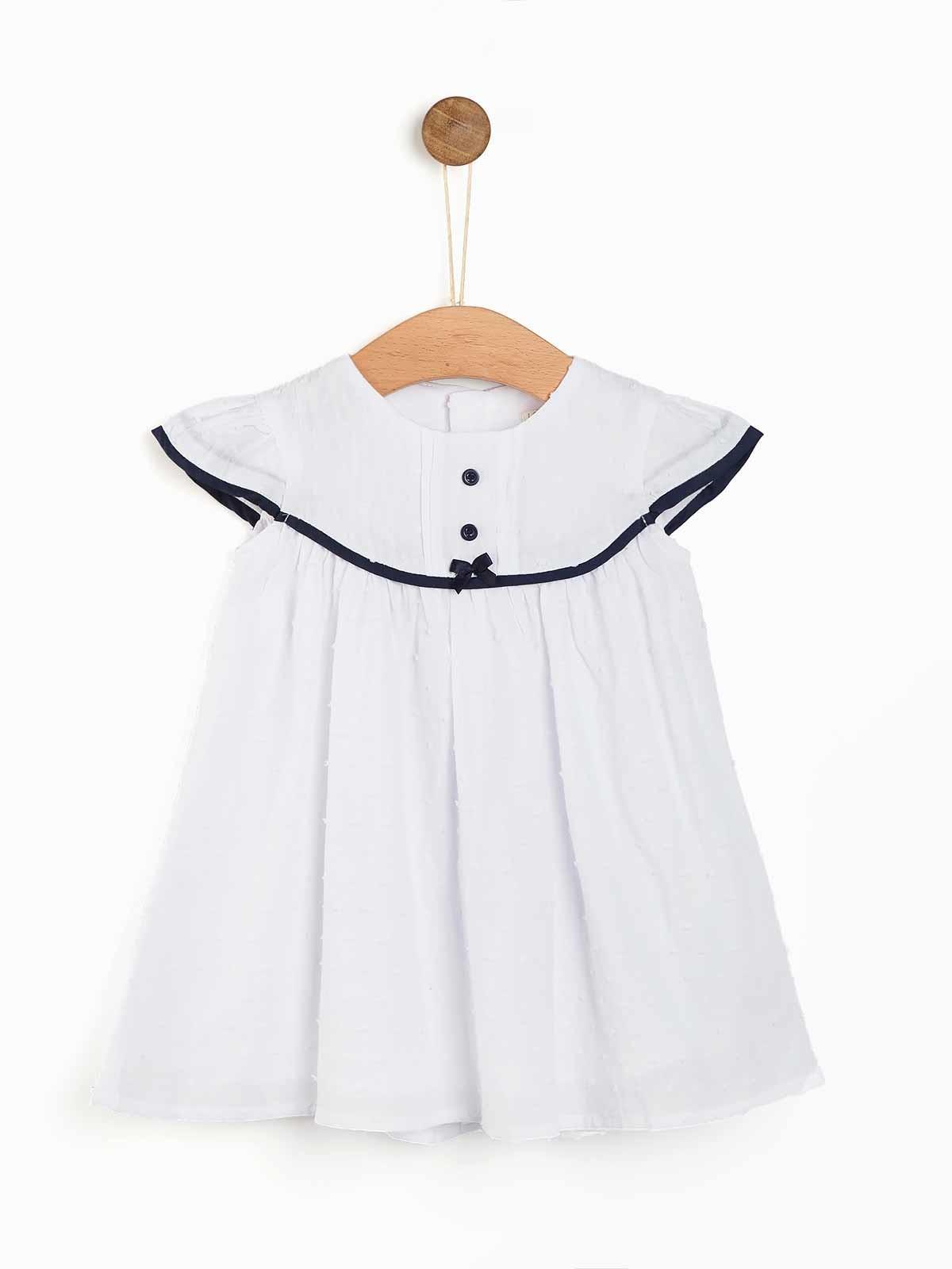 Vestido branco lacinho
