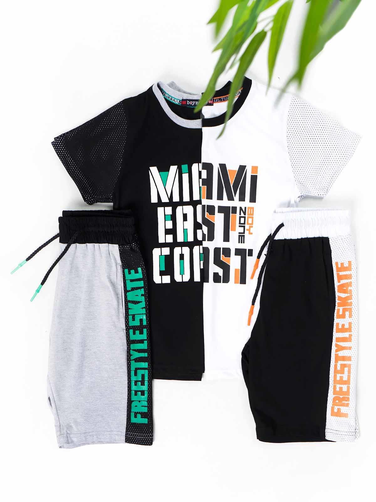 Conjunto t-shirt calção Miami East Coast