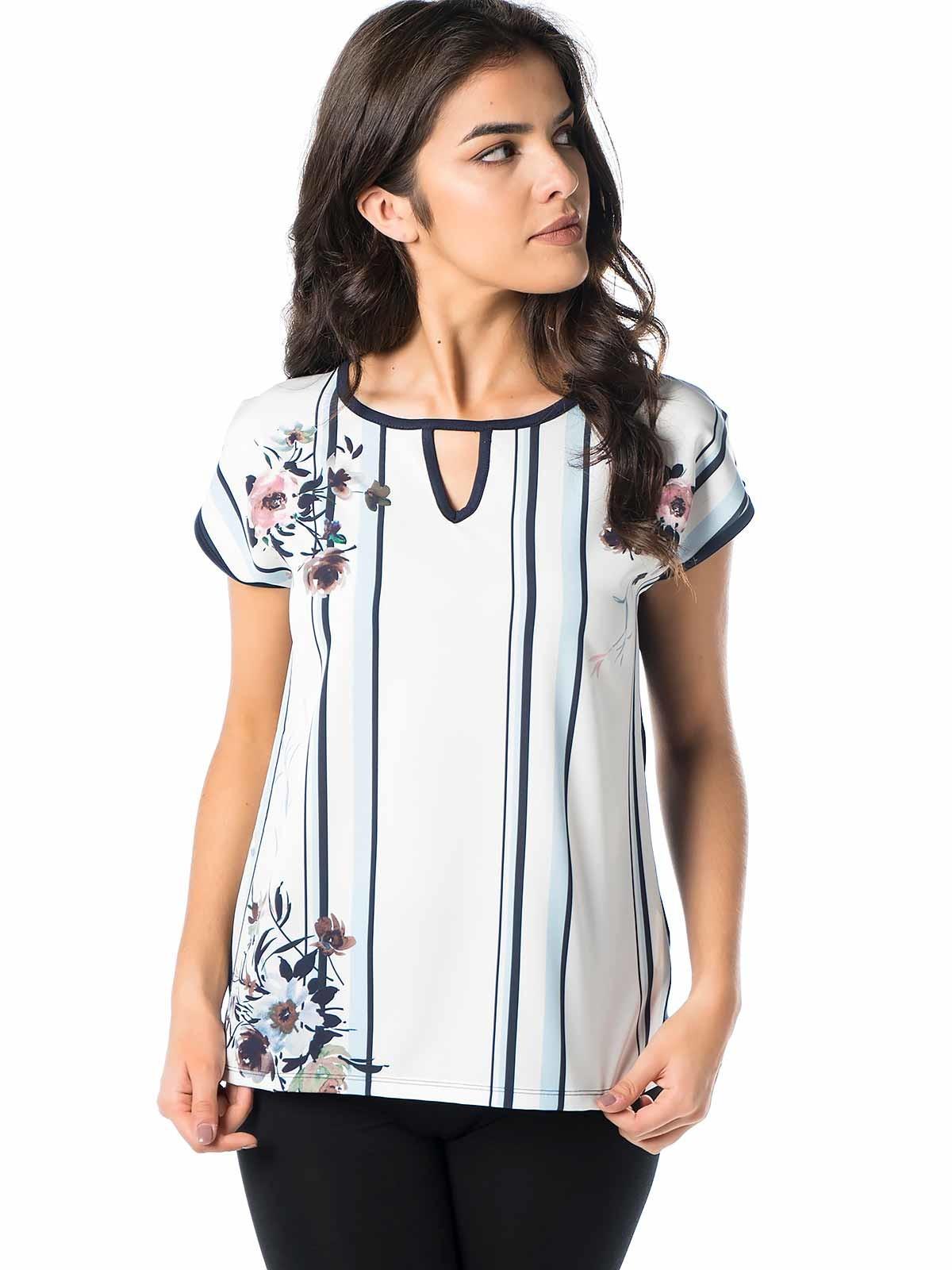 Blusa manga curta floral
