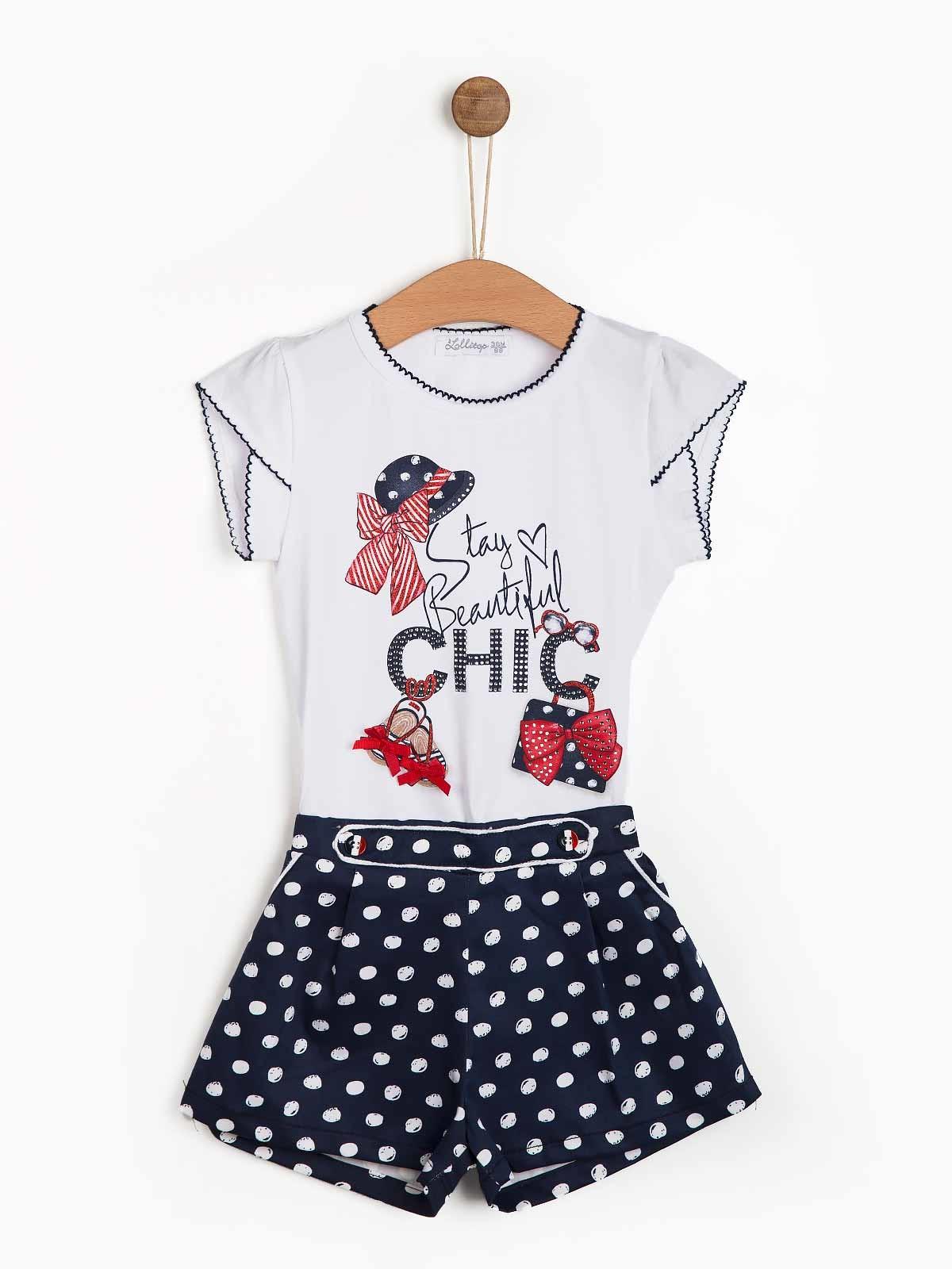 Conjunto de bebé menina calção t-shirt