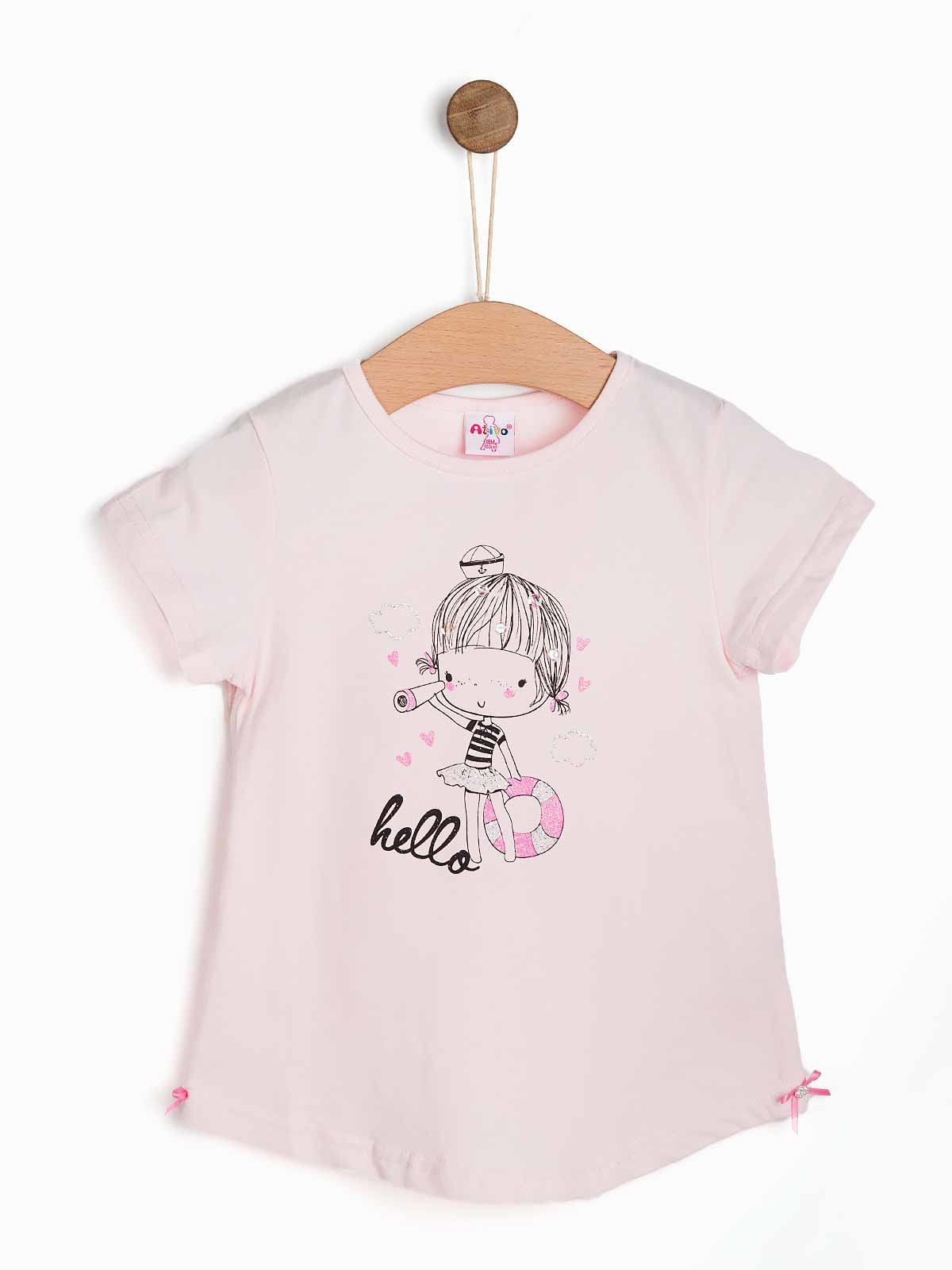 T-shirt bebé menina Hello