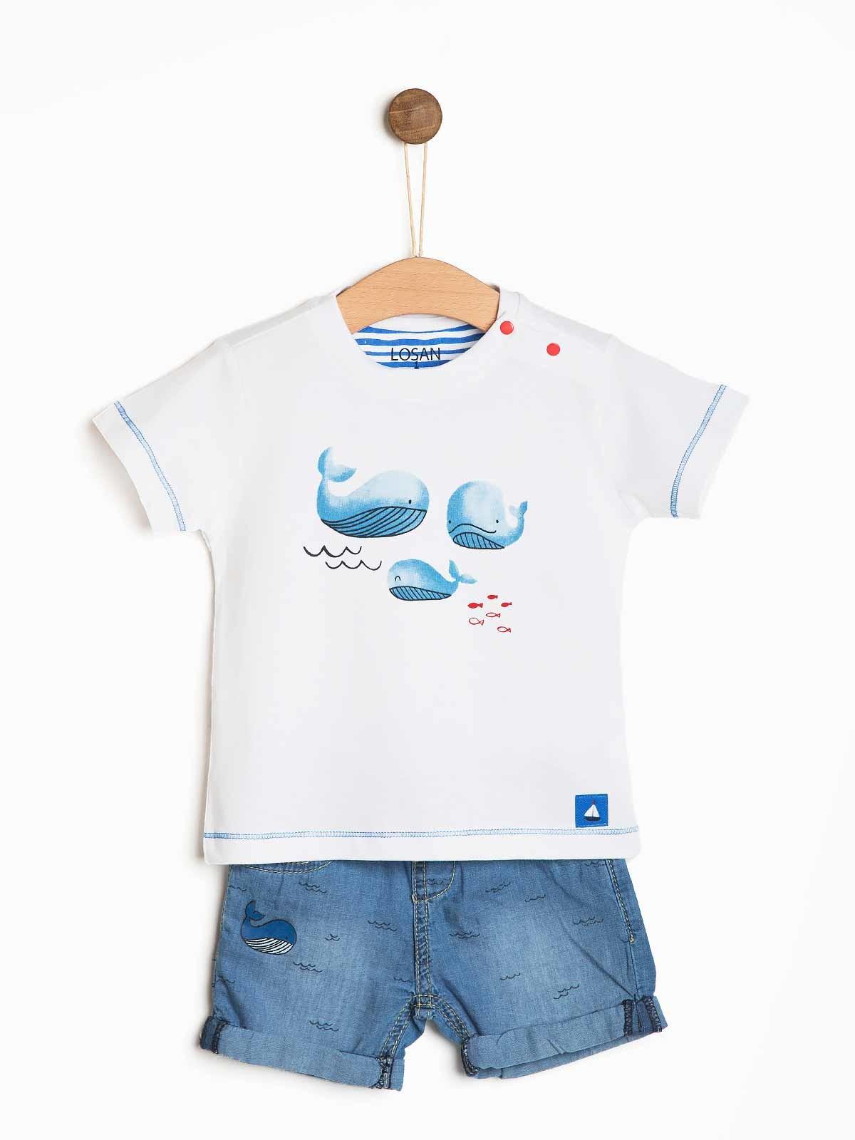 Conjunto bebé com baleias