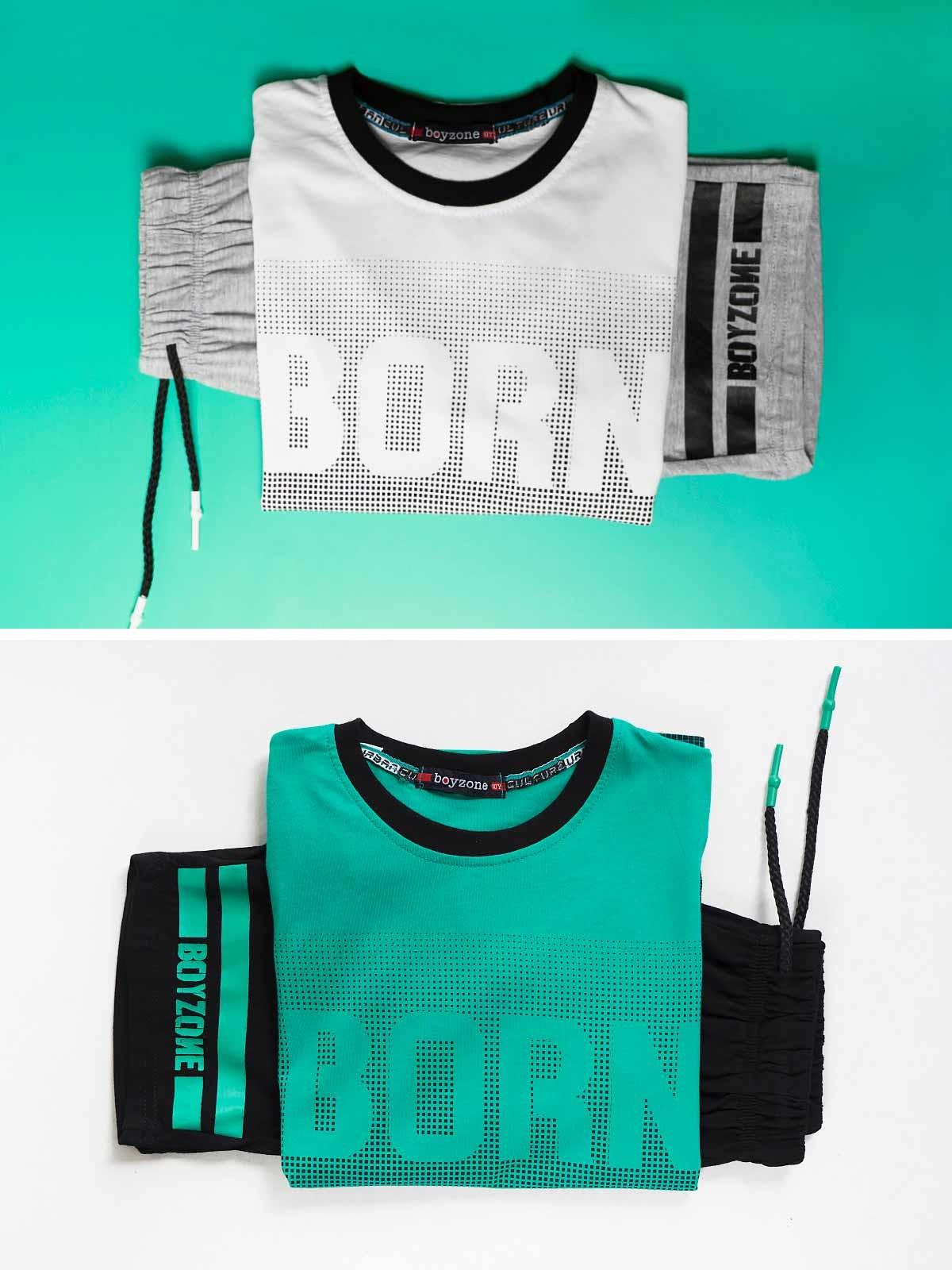 Conjunto t-shirt e calções Born
