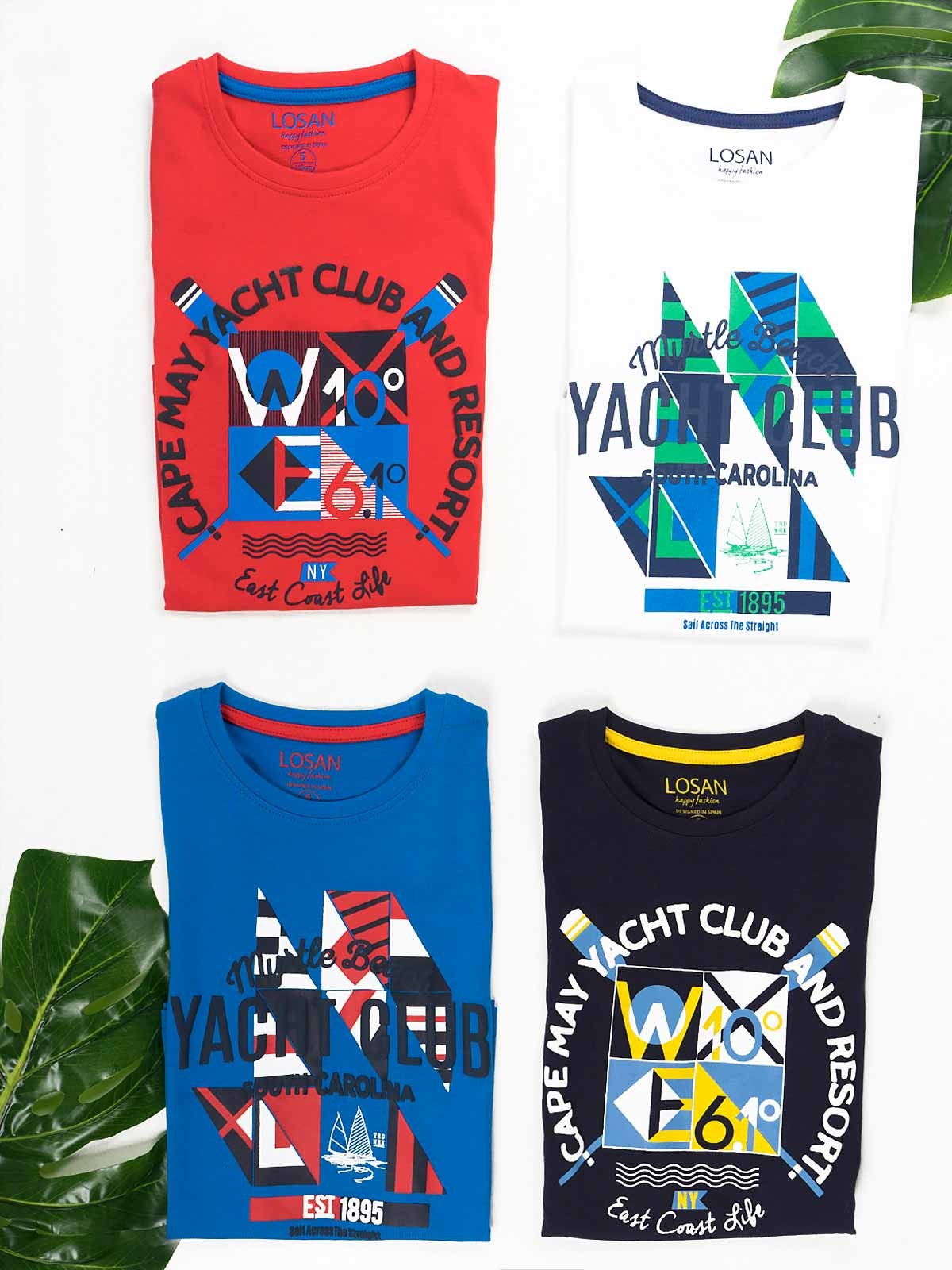 T-shirt manga curta Yacht Club