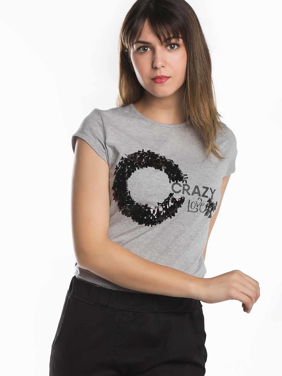 T-shirt lantejoulas Crazy