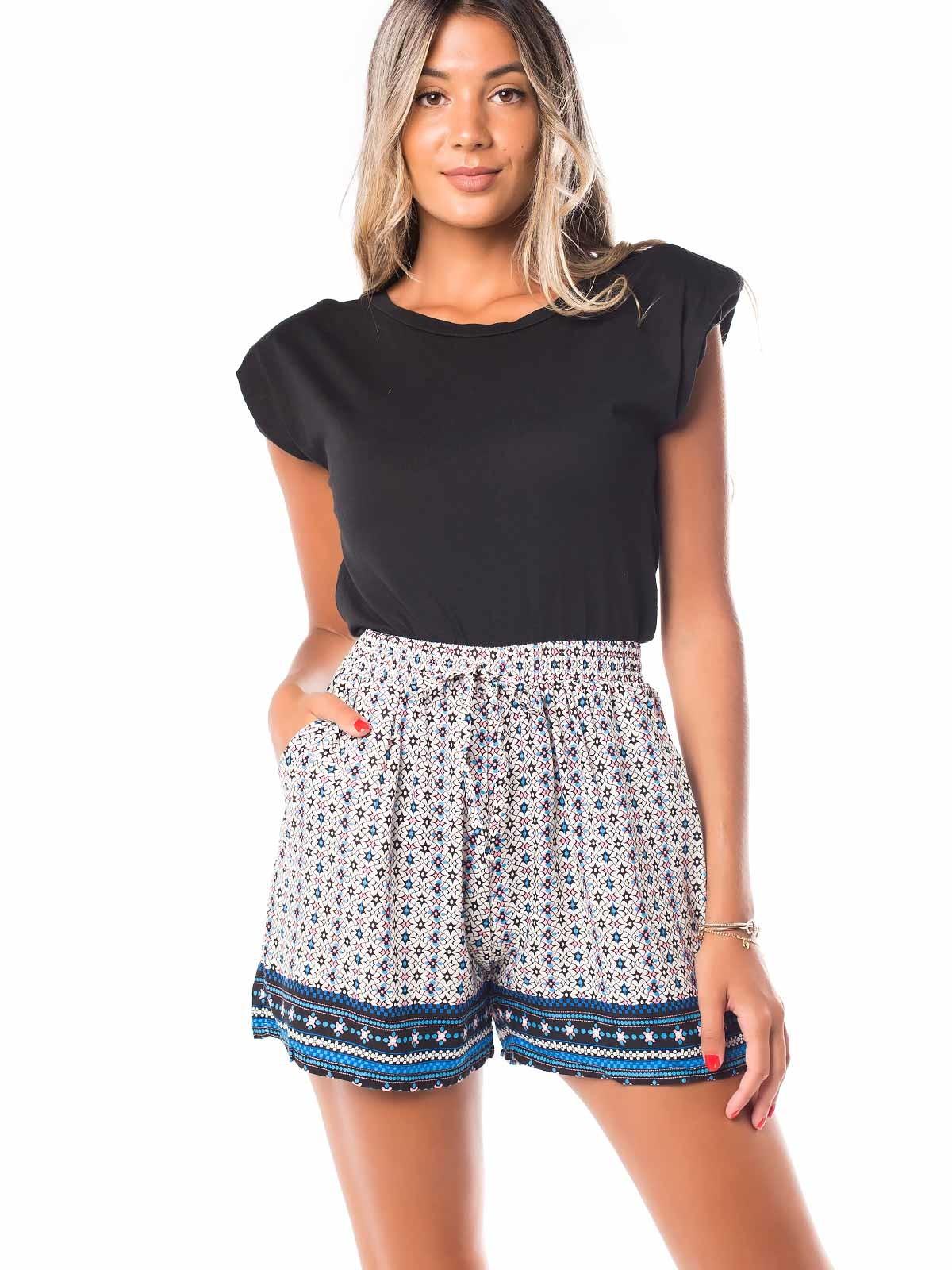 Shorts cortos estampados rayas