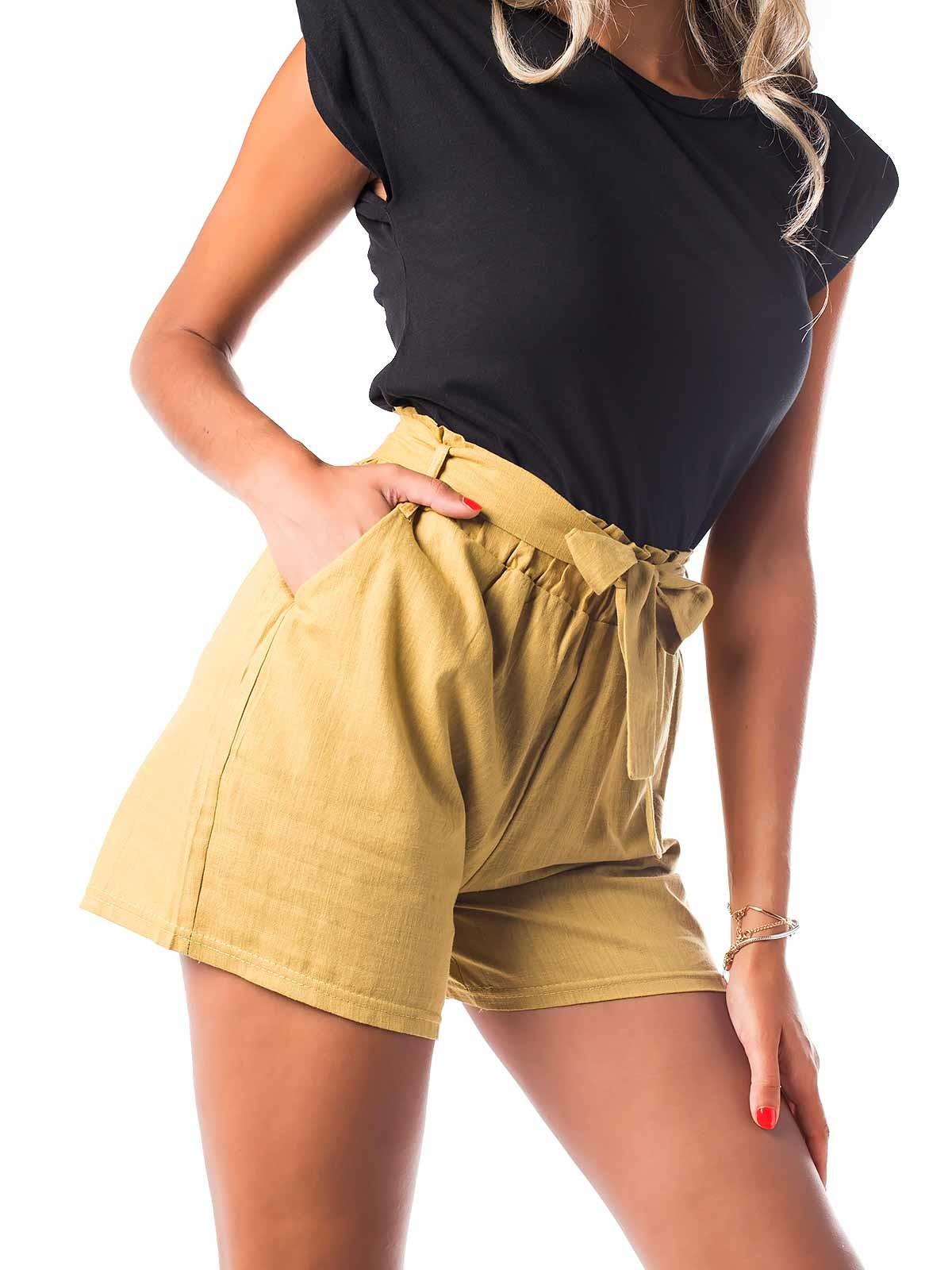Shorts cortos de lino