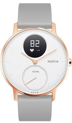 MIDAS - Withings - Steel HR (36mm-rose gold/grey silicone)
